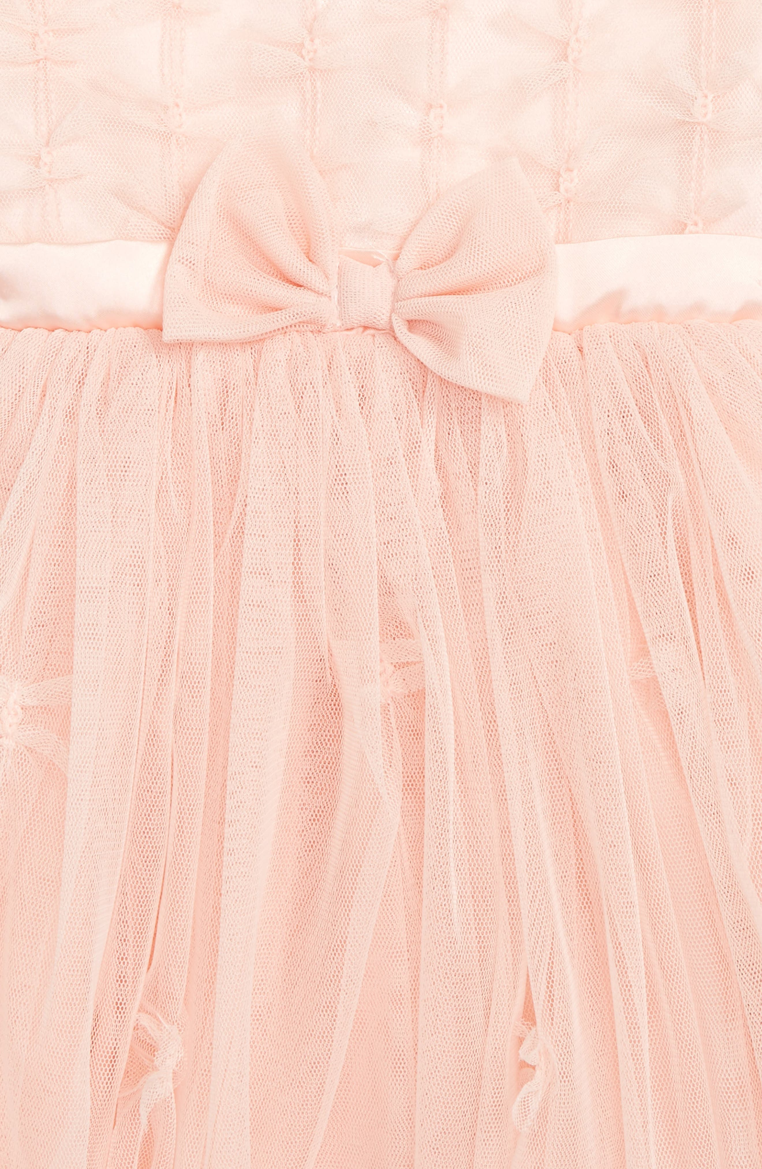 Sleeveless Tulle Dress,                             Alternate thumbnail 2, color,                             PEACH