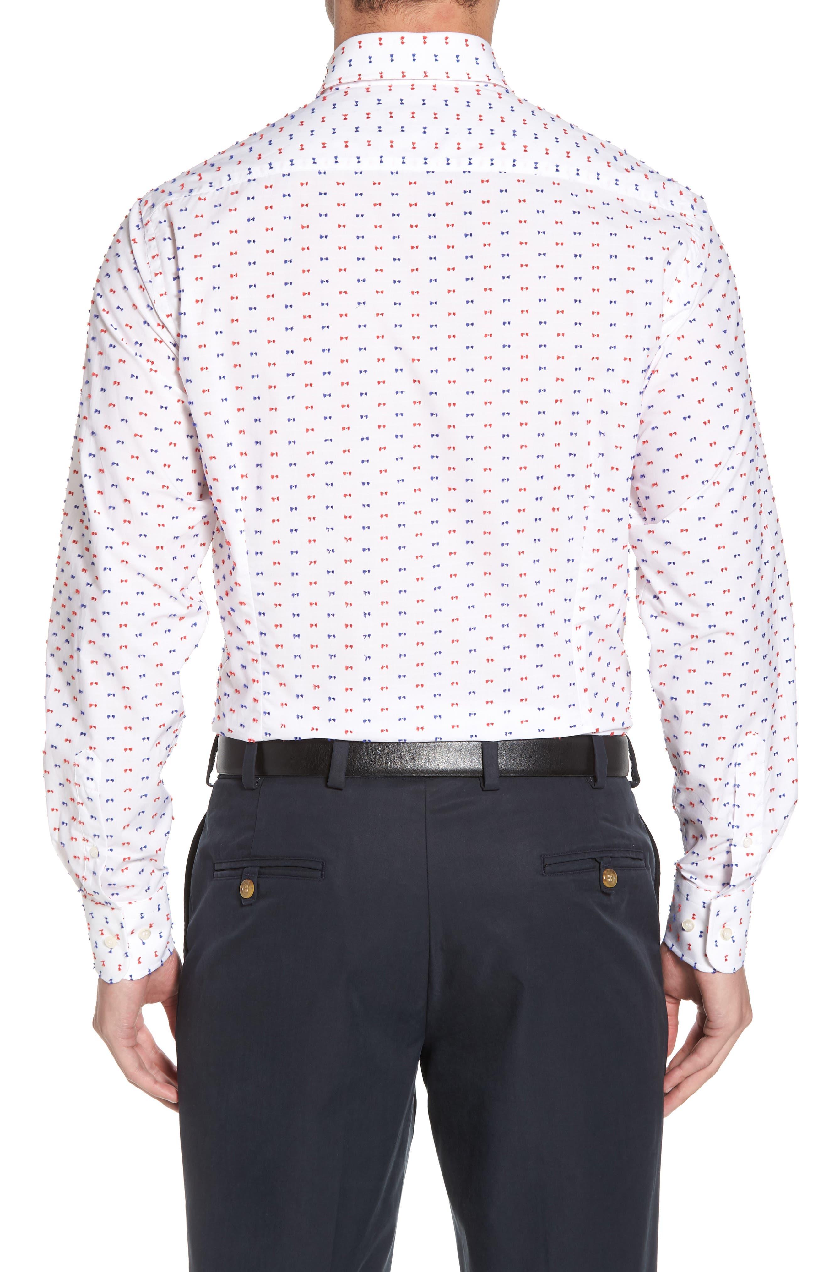 Paul&Shark Regular Fit Feathered Sport Shirt,                             Alternate thumbnail 2, color,
