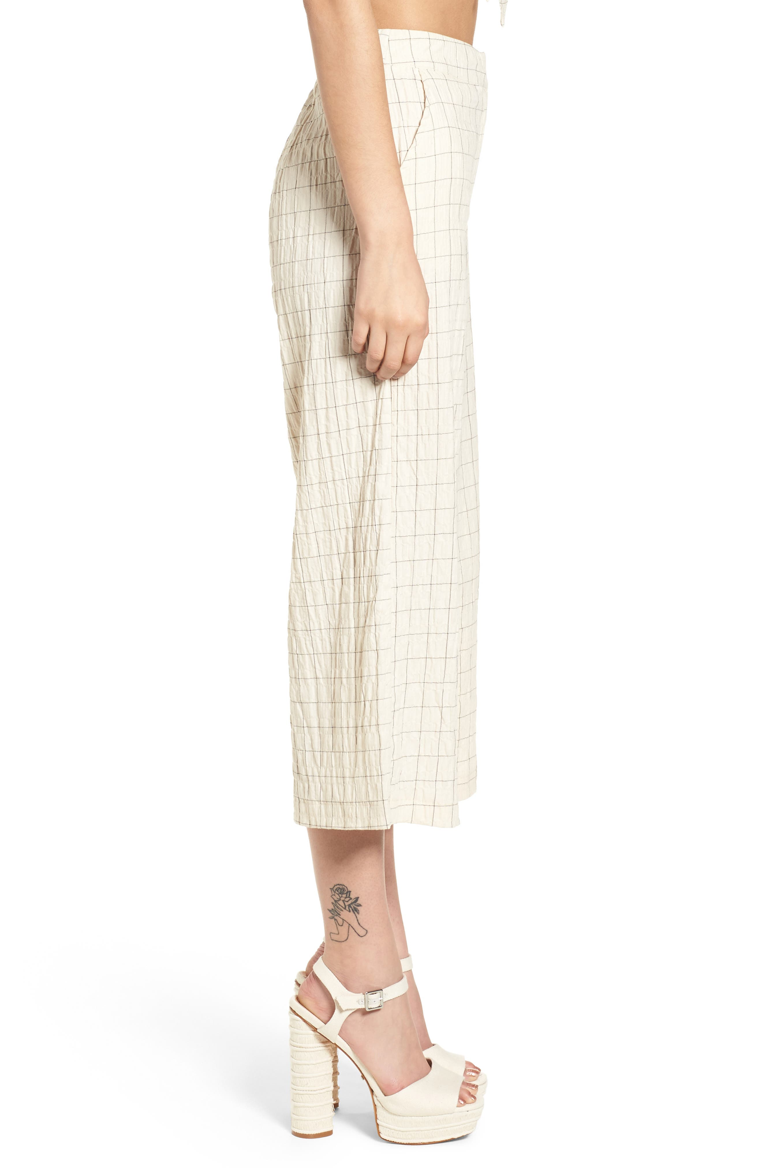 Plaid Culottes,                             Alternate thumbnail 3, color,                             250