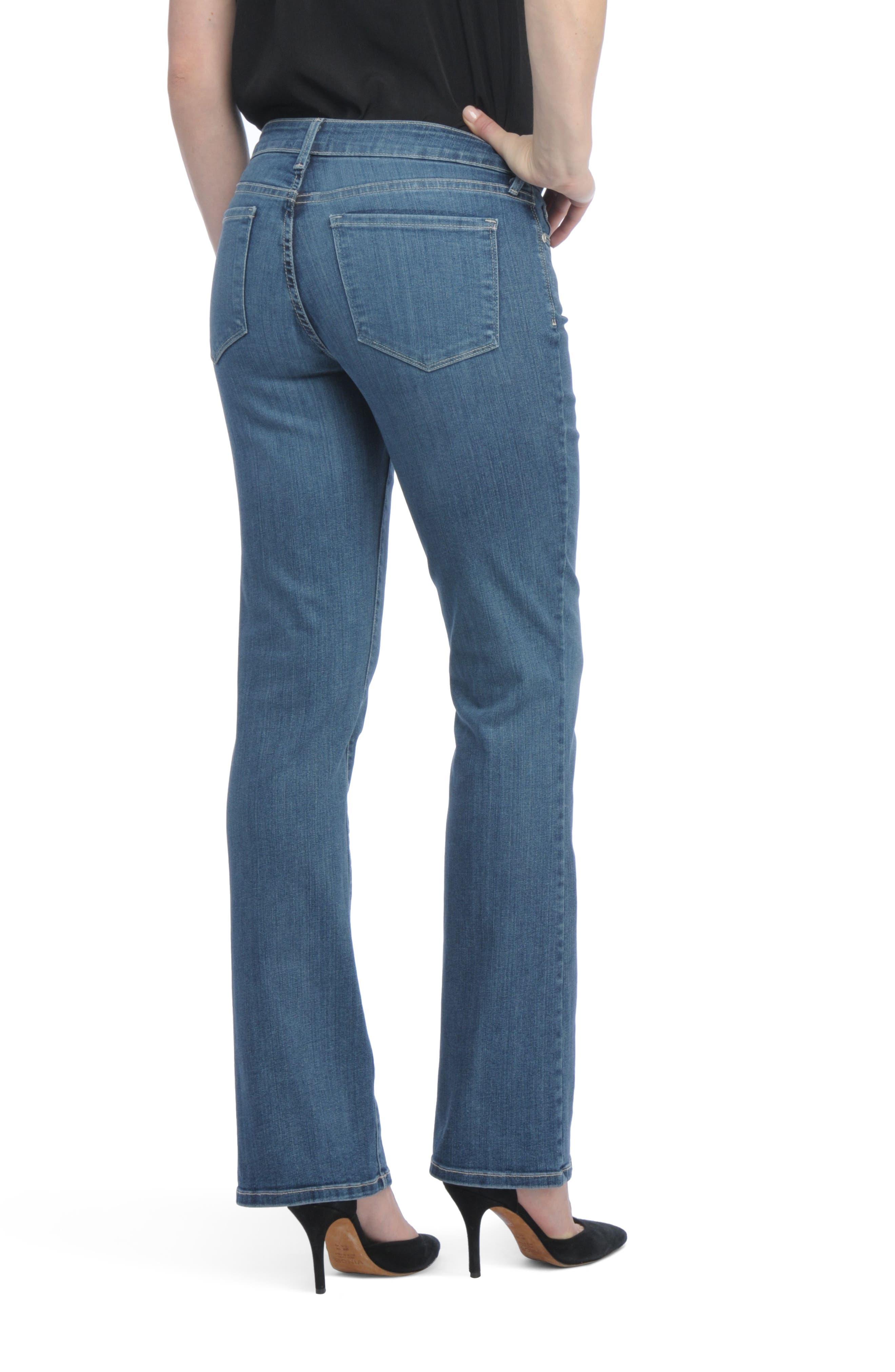 Barbara Bootcut Short Jeans,                             Alternate thumbnail 2, color,