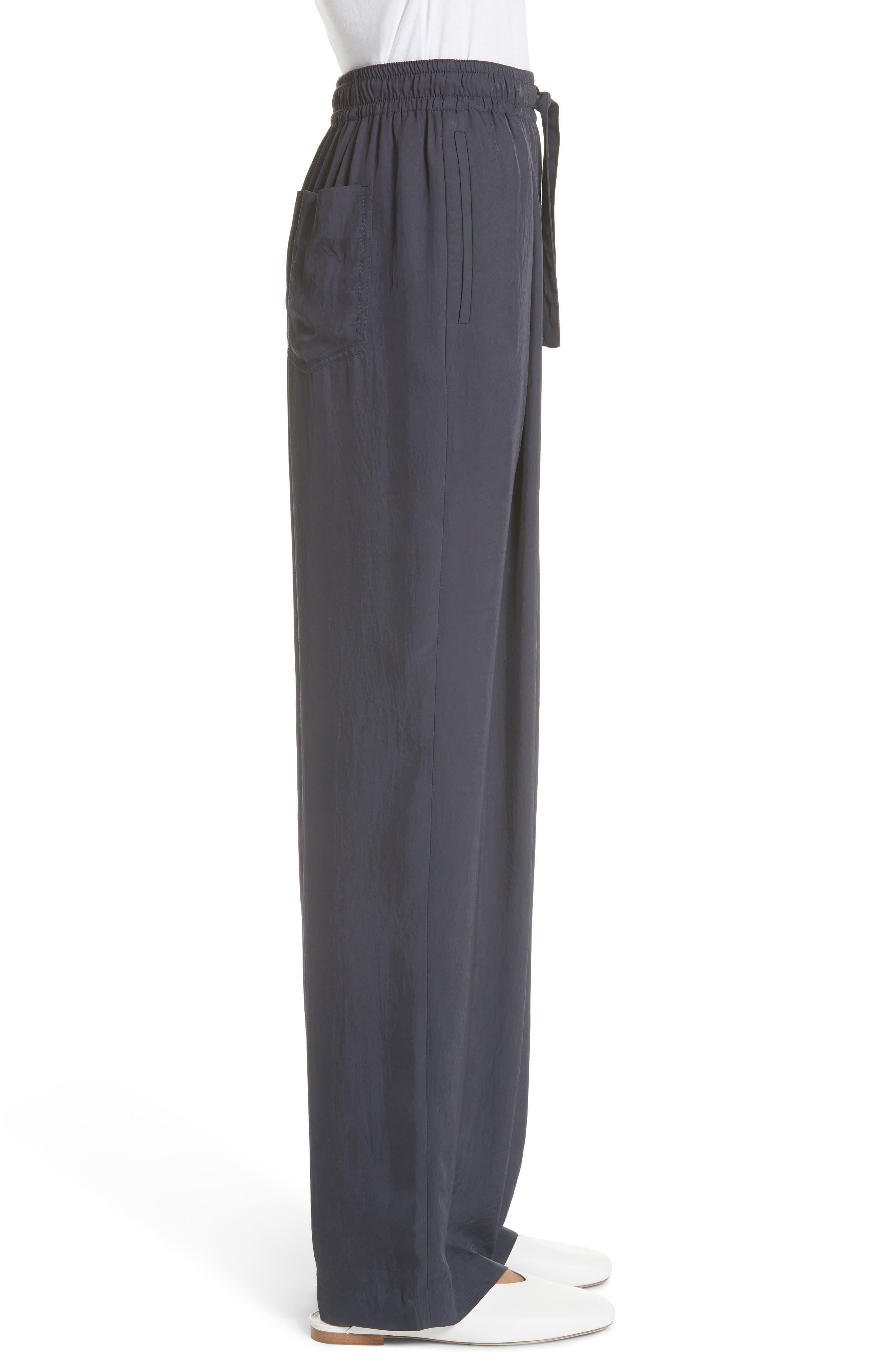 Tie Front Wide Leg Pants,                             Alternate thumbnail 3, color,                             COASTAL