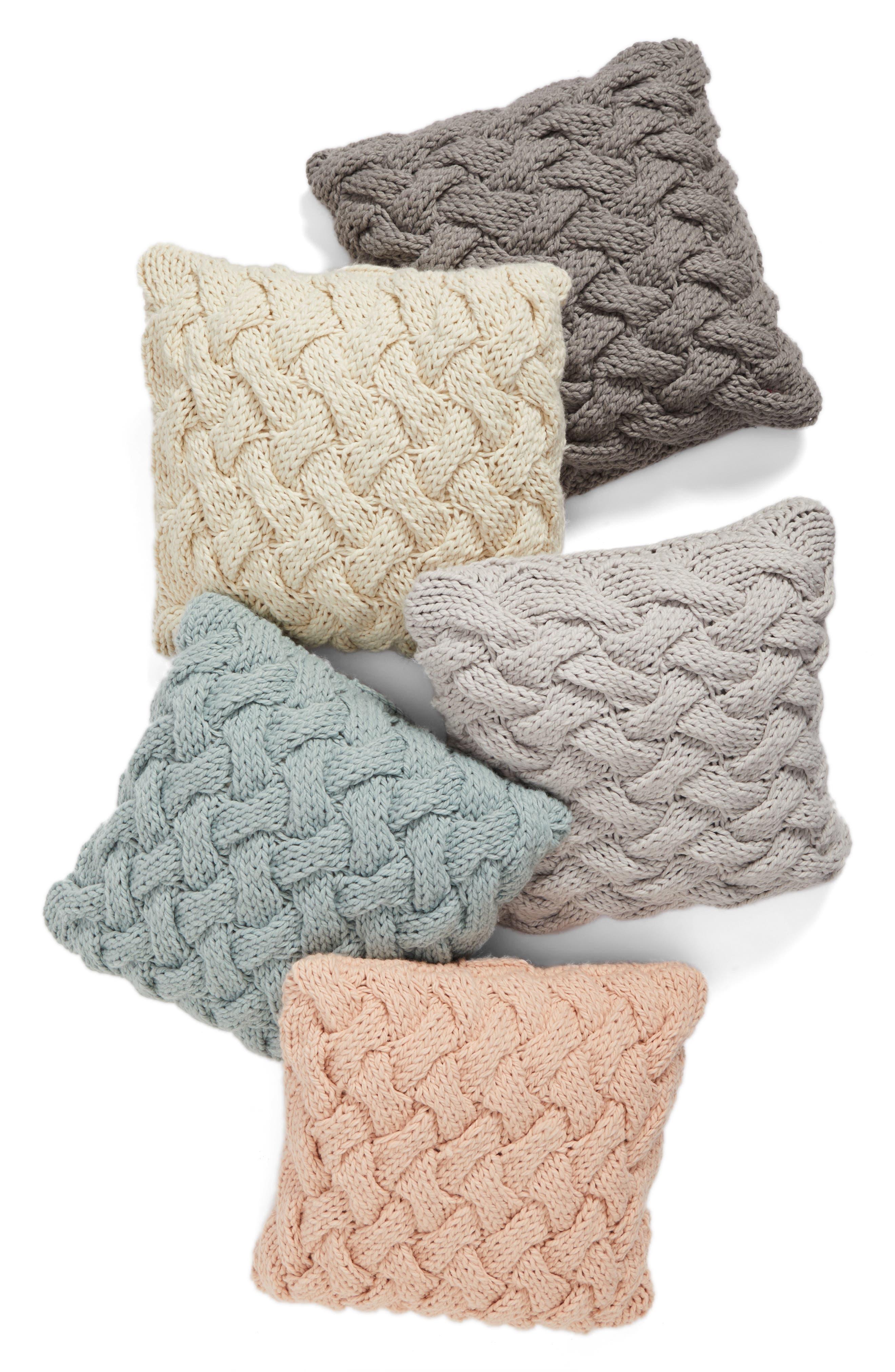 Basket Weave Accent Pillow,                             Alternate thumbnail 4, color,                             020