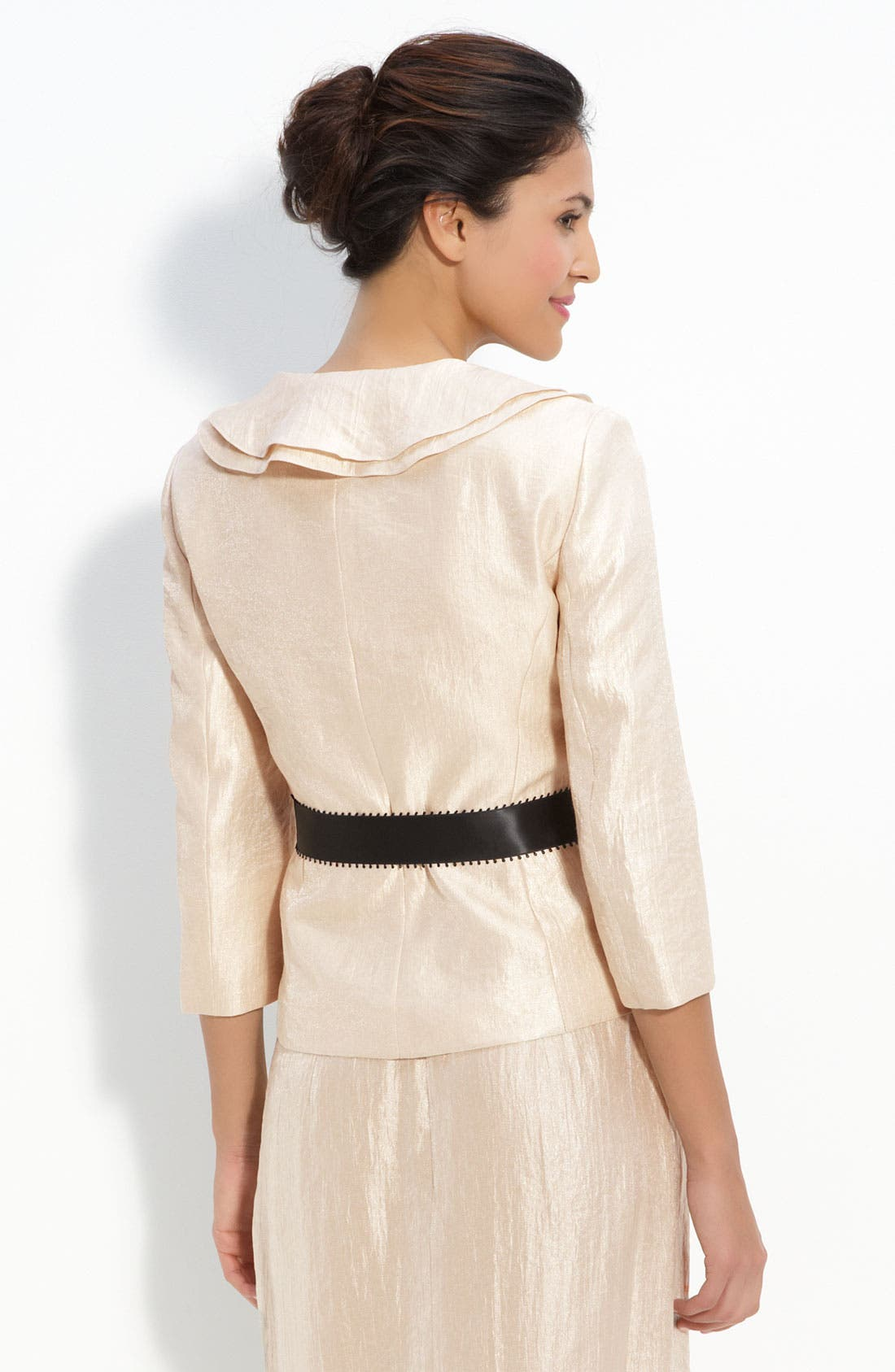 Shimmer Crepe Jacket,                             Alternate thumbnail 5, color,