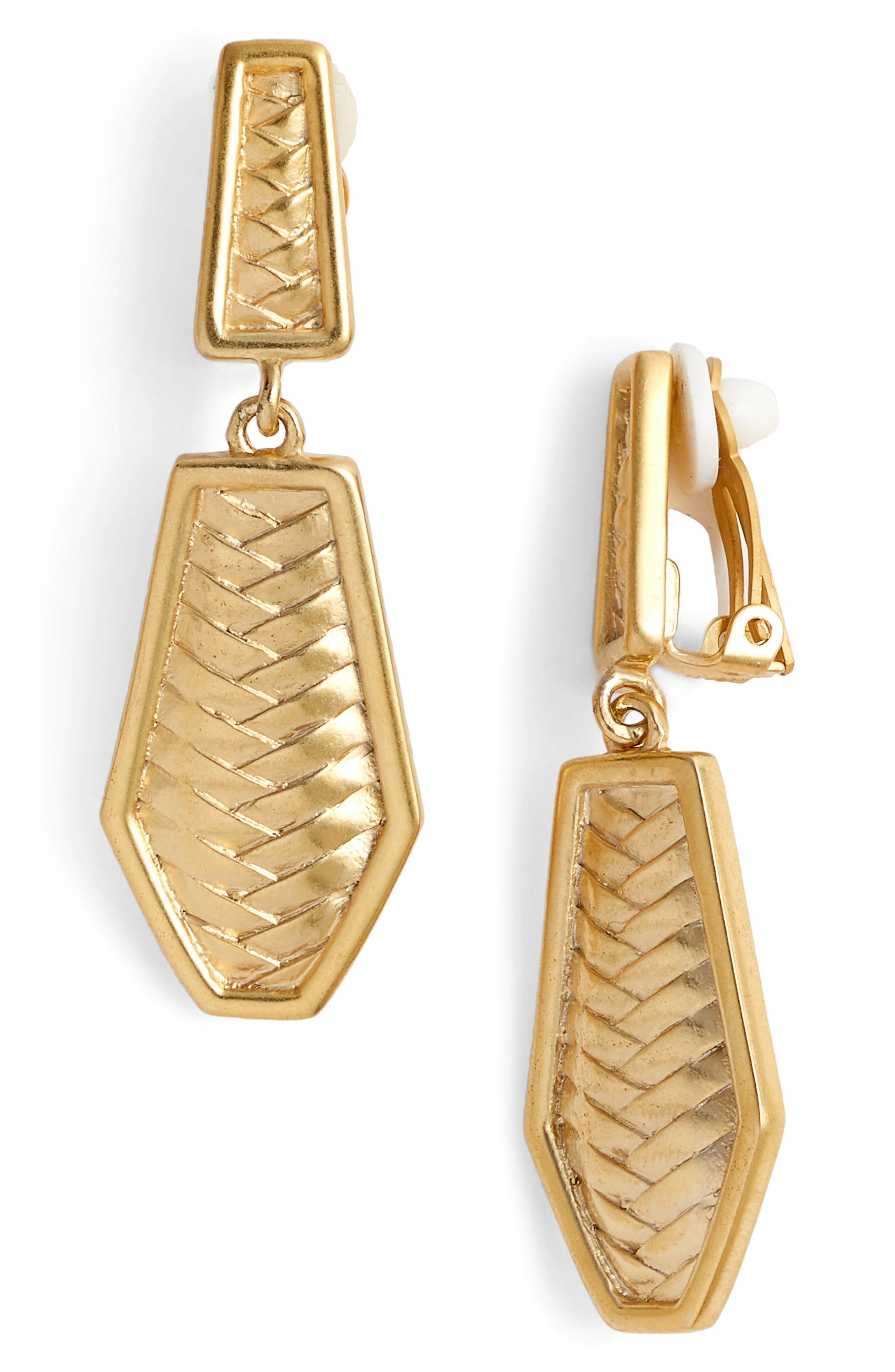 Double Drop Clip Earrings,                             Main thumbnail 1, color,                             710