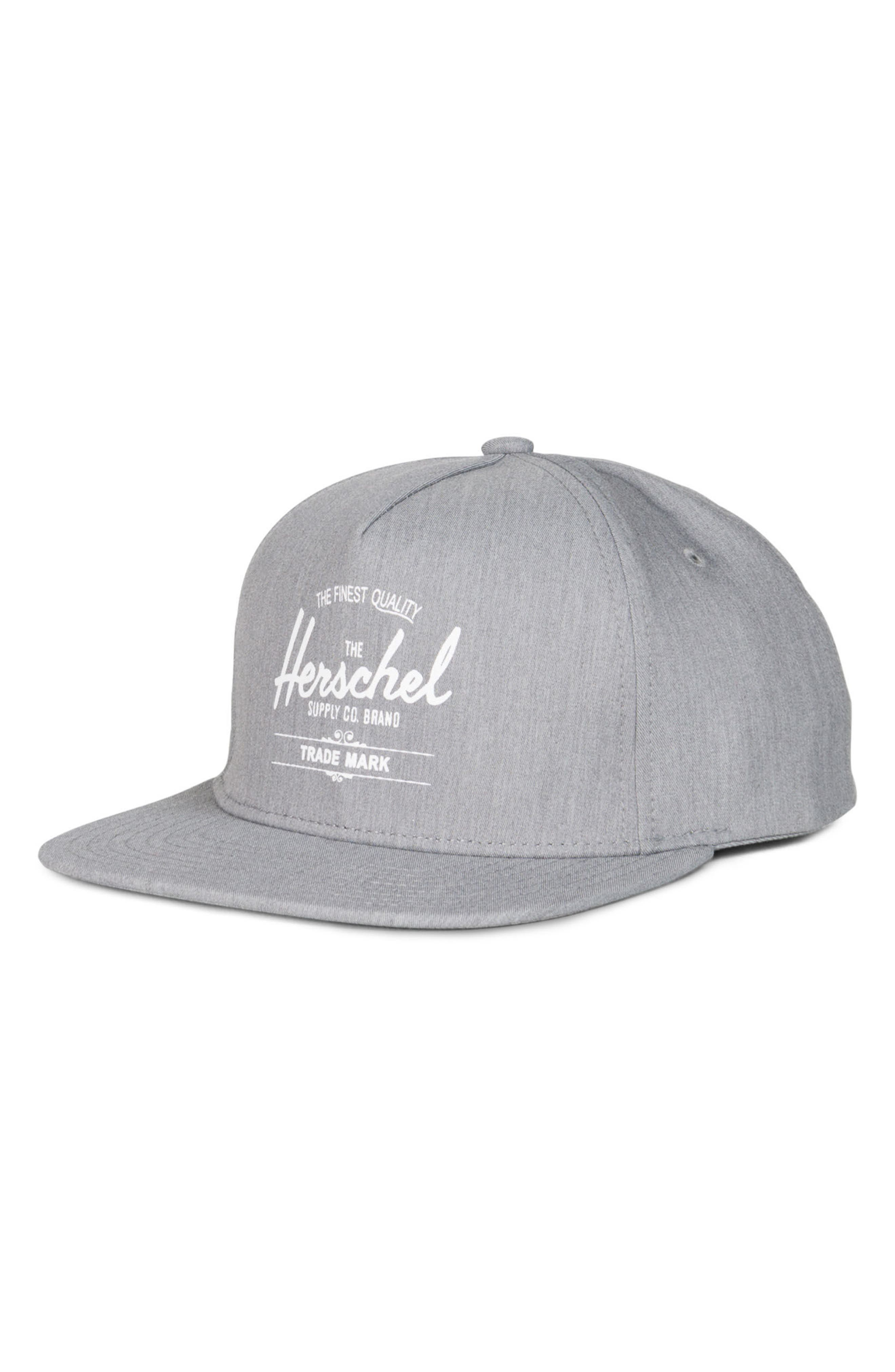 Whaler Snapback Baseball Cap,                         Main,                         color, HEATHER GREY