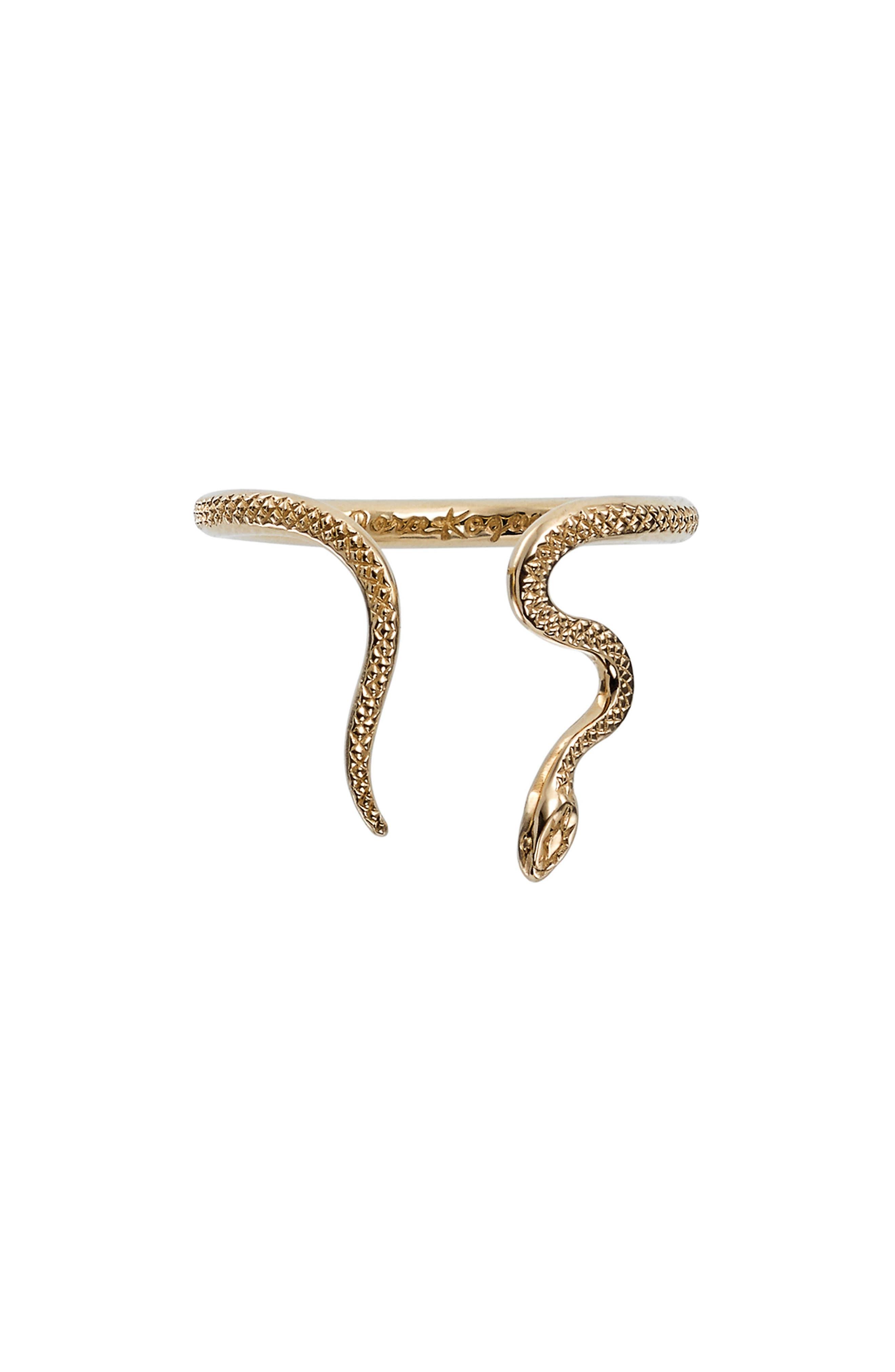 Alexandra Snake Ring,                             Main thumbnail 1, color,                             YELLOW GOLD