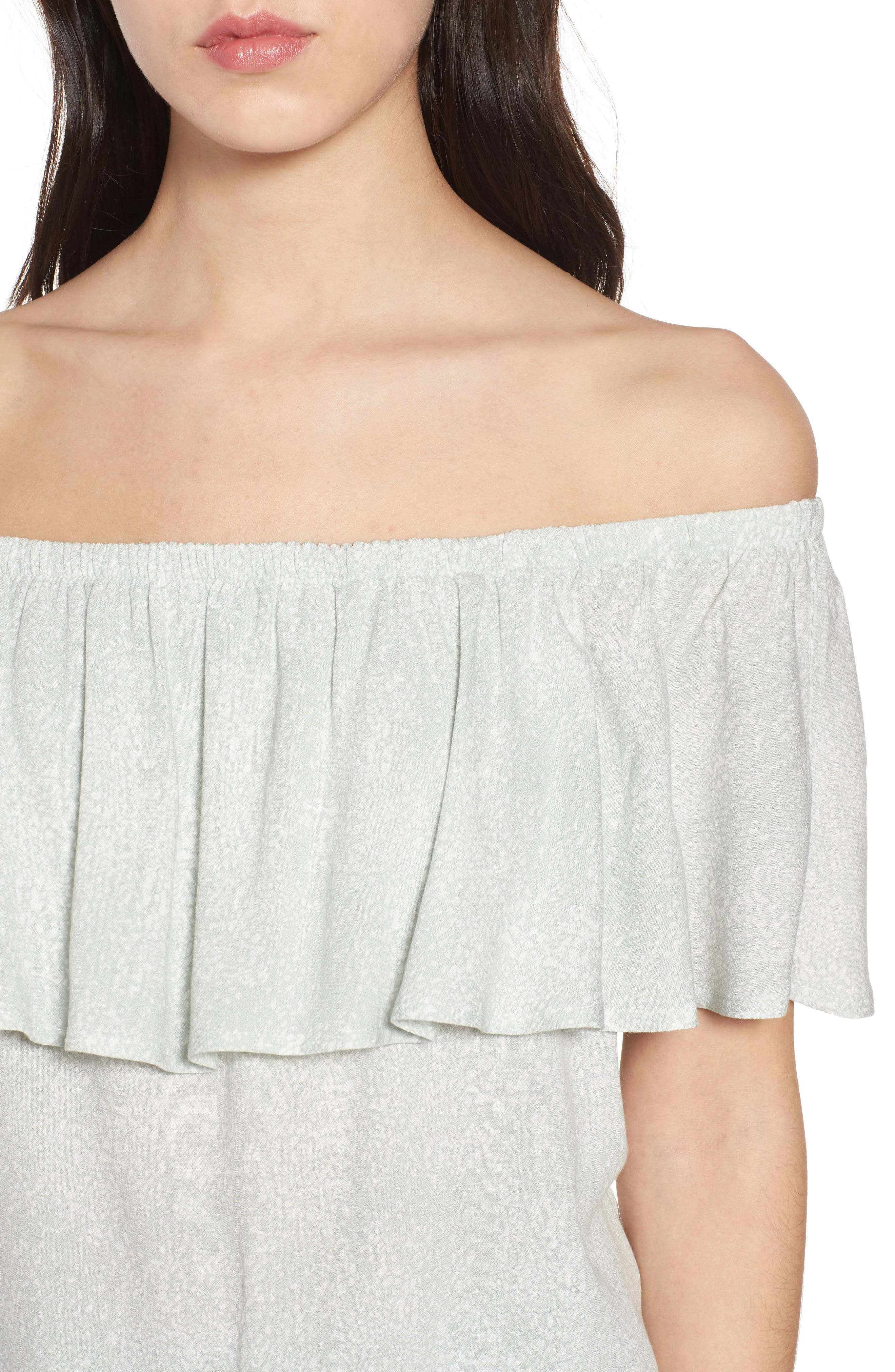 Mary Off the Shoulder Top,                             Alternate thumbnail 8, color,
