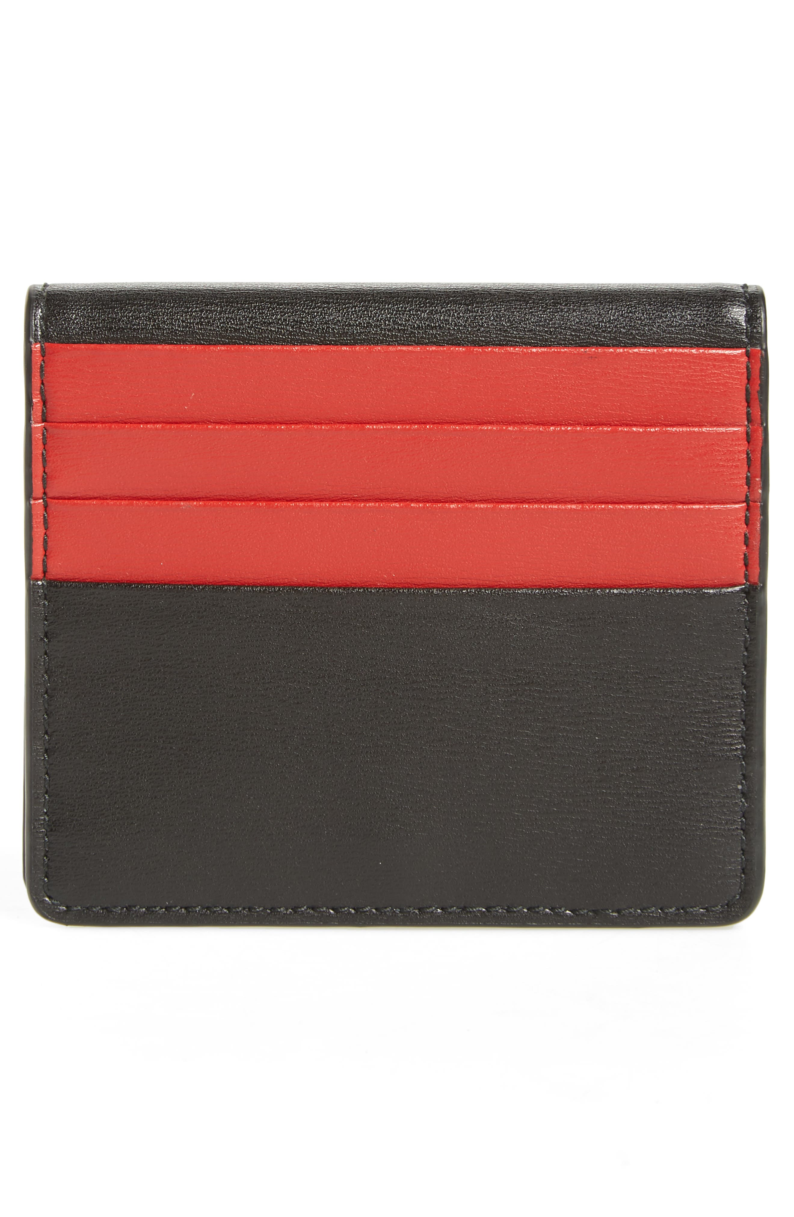 Quilted Gancio Leather French Wallet,                             Alternate thumbnail 4, color,                             NERO/ LIPSTICK