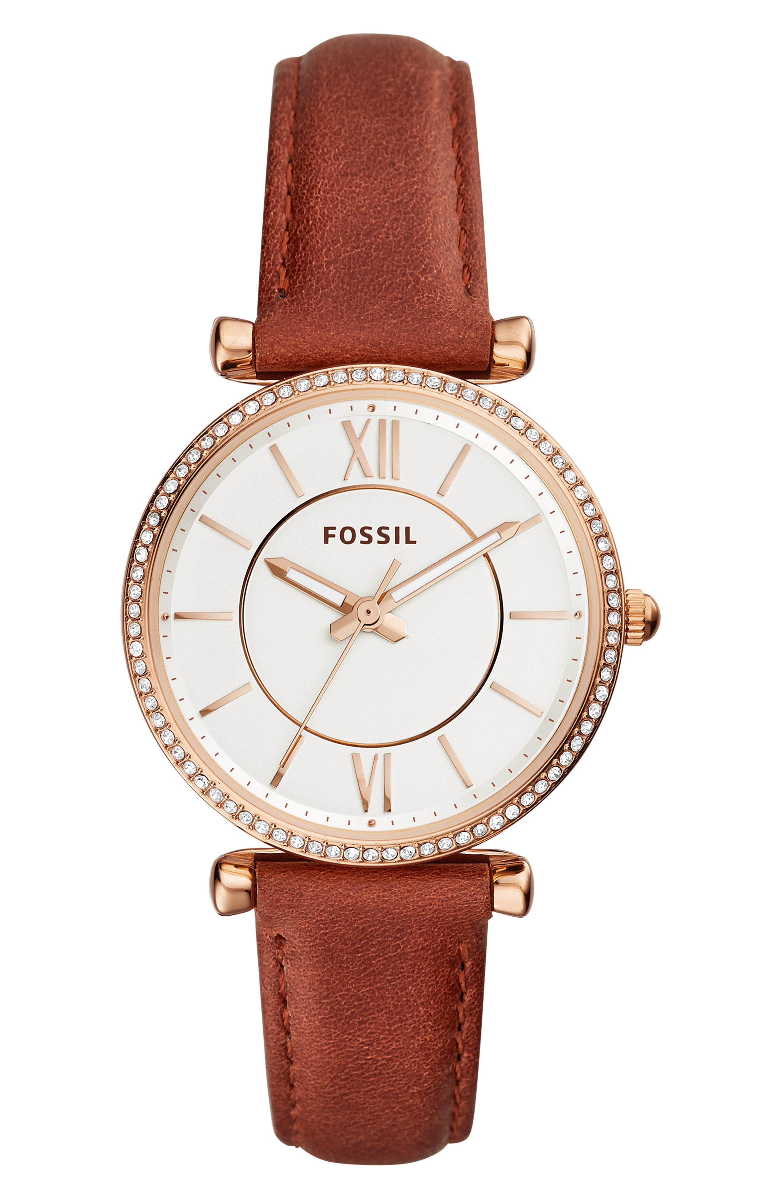 Carlie T-Bar Crystal Leather Strap Watch, 35mm,                             Main thumbnail 2, color,