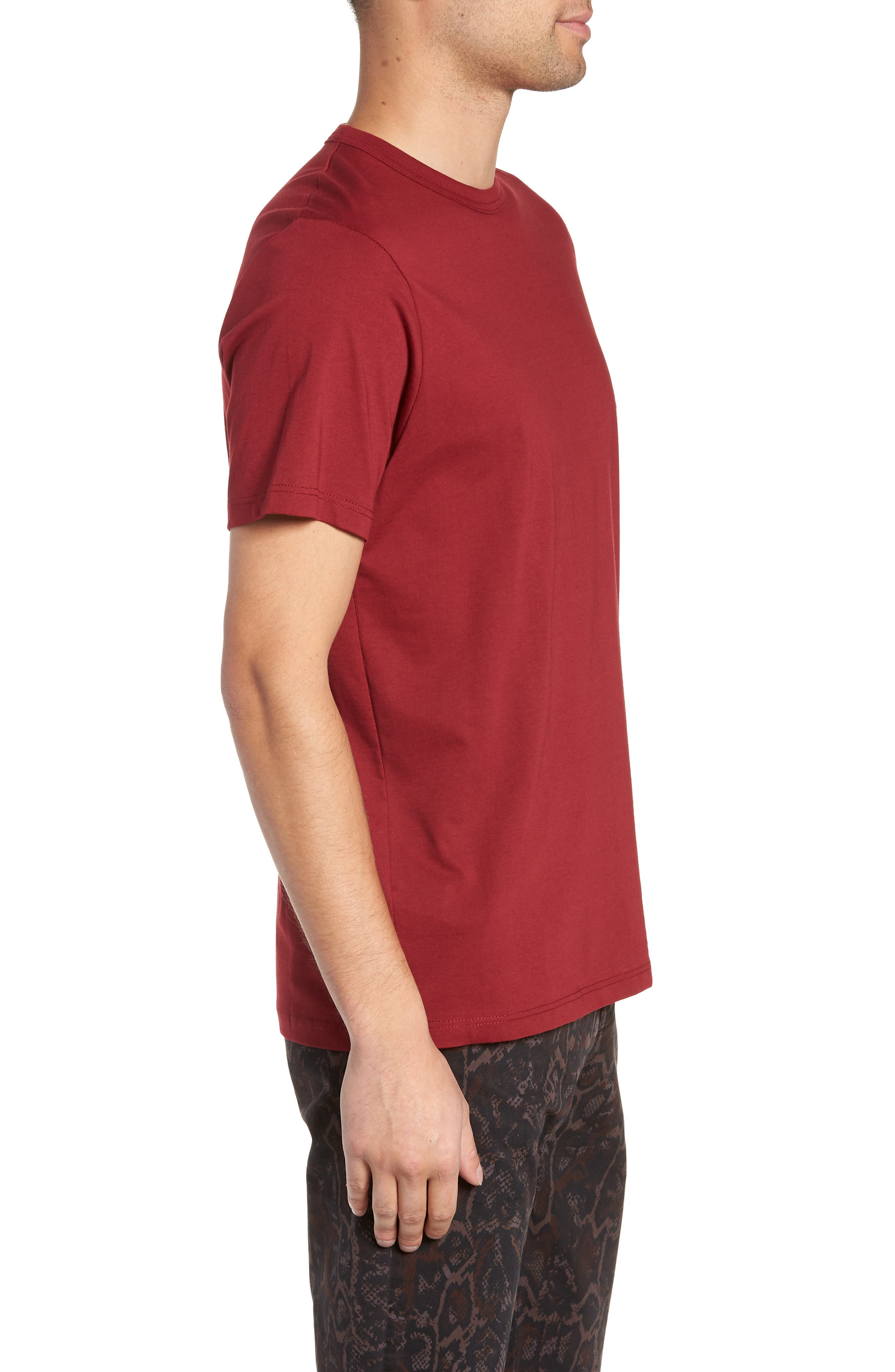 Bound Classic Crew T-Shirt,                             Alternate thumbnail 3, color,                             RED