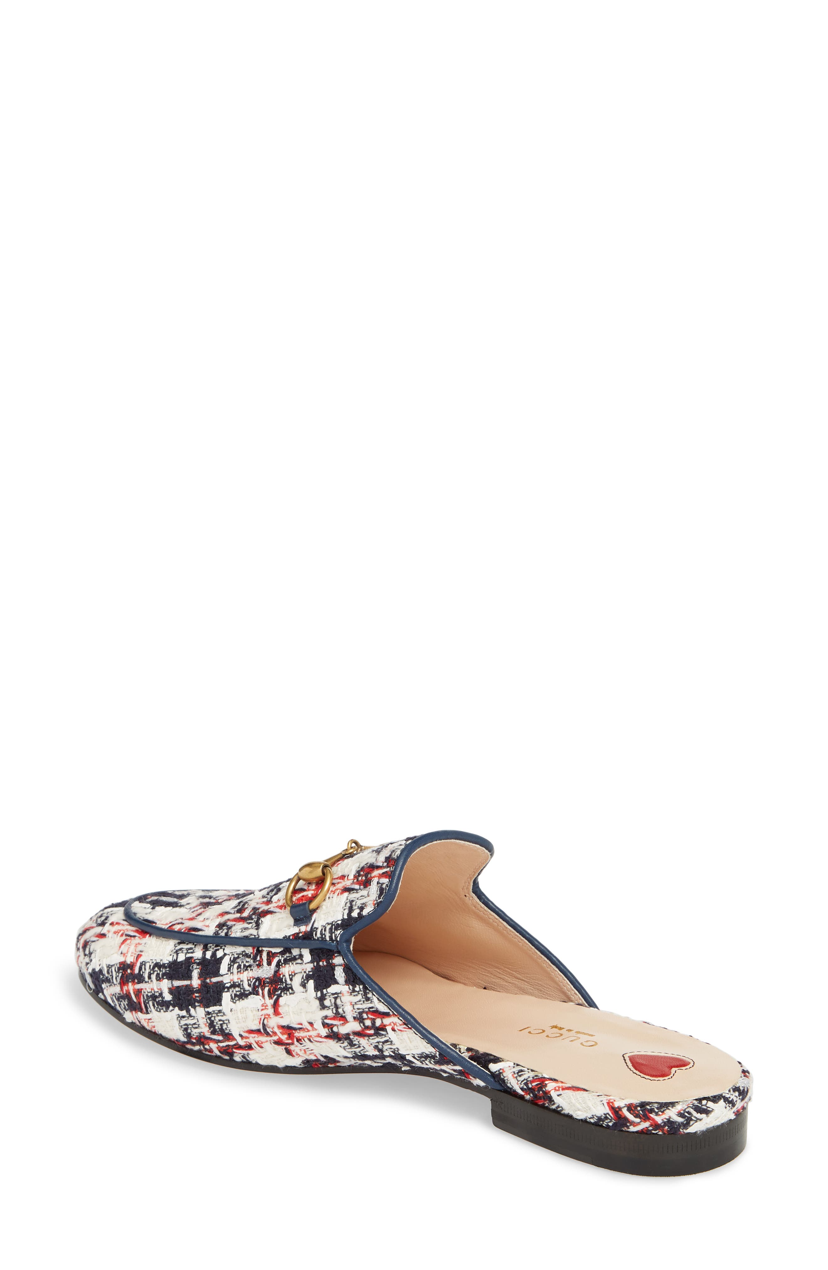 Princetown Loafer Mule,                             Alternate thumbnail 2, color,                             BLUE/ WHITE/ RED