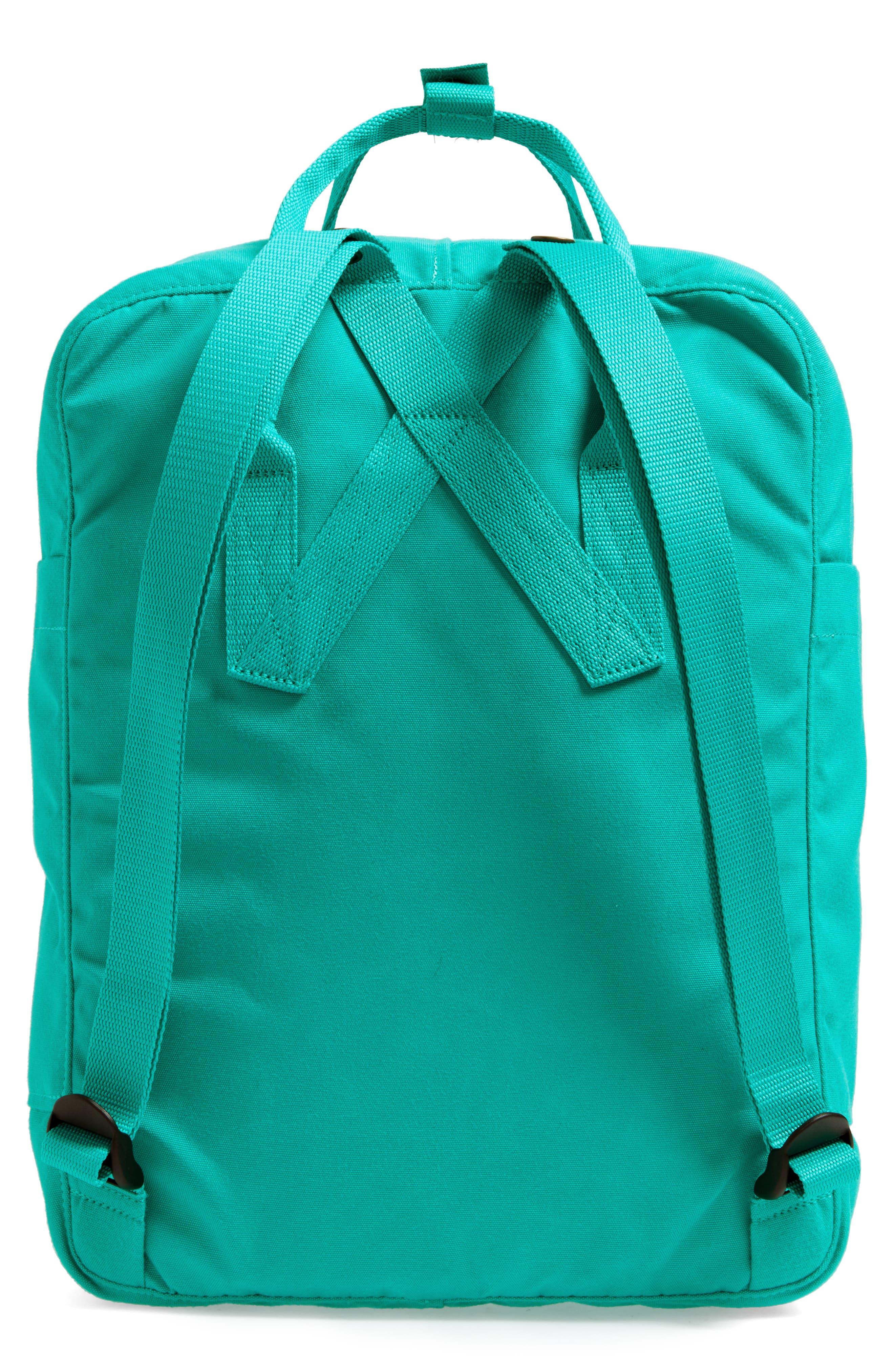 Re-Kånken Water Resistant Backpack,                             Alternate thumbnail 3, color,                             EMERALD