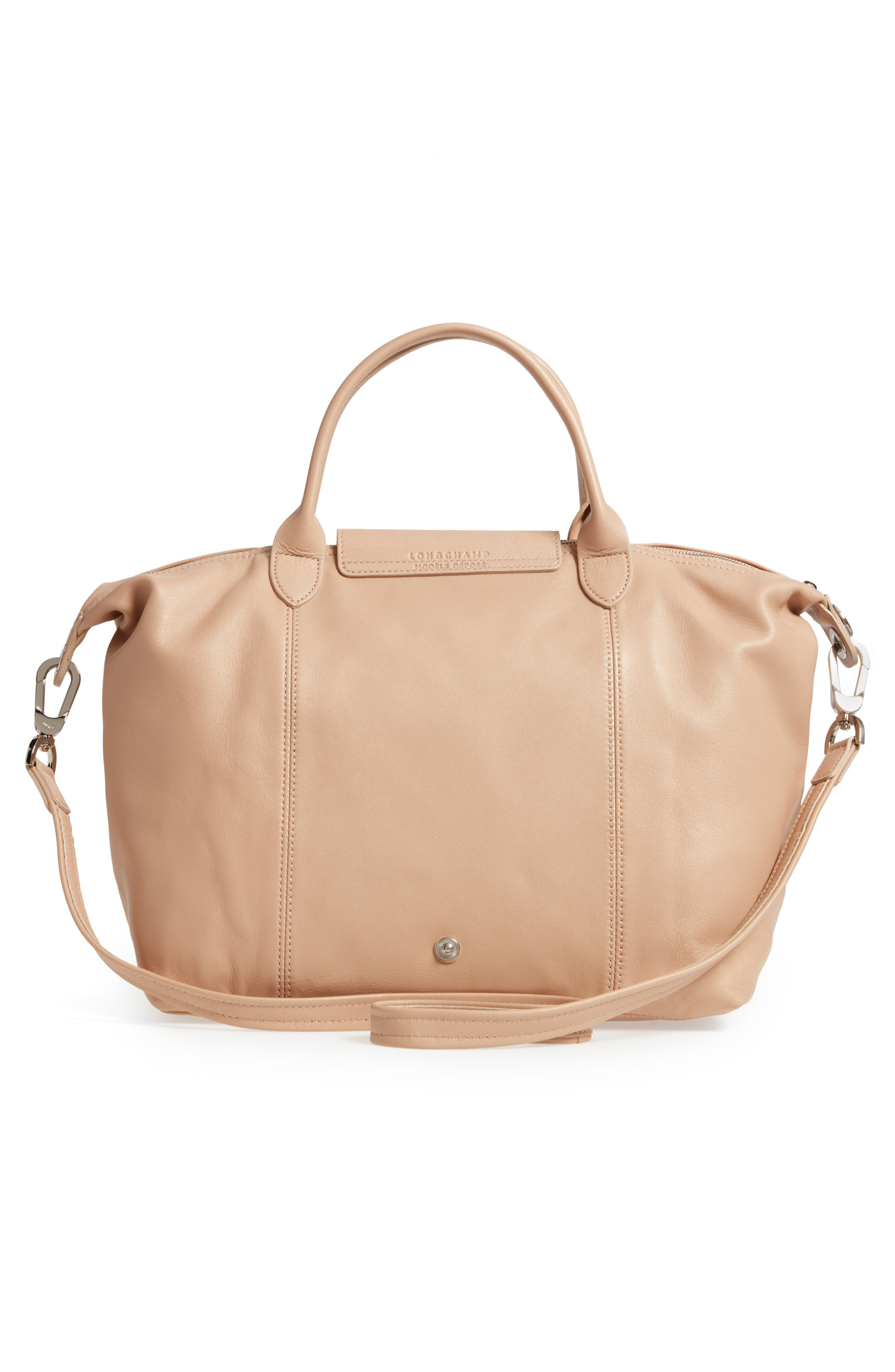 Medium 'Le Pliage Cuir' Leather Top Handle Tote,                             Alternate thumbnail 55, color,