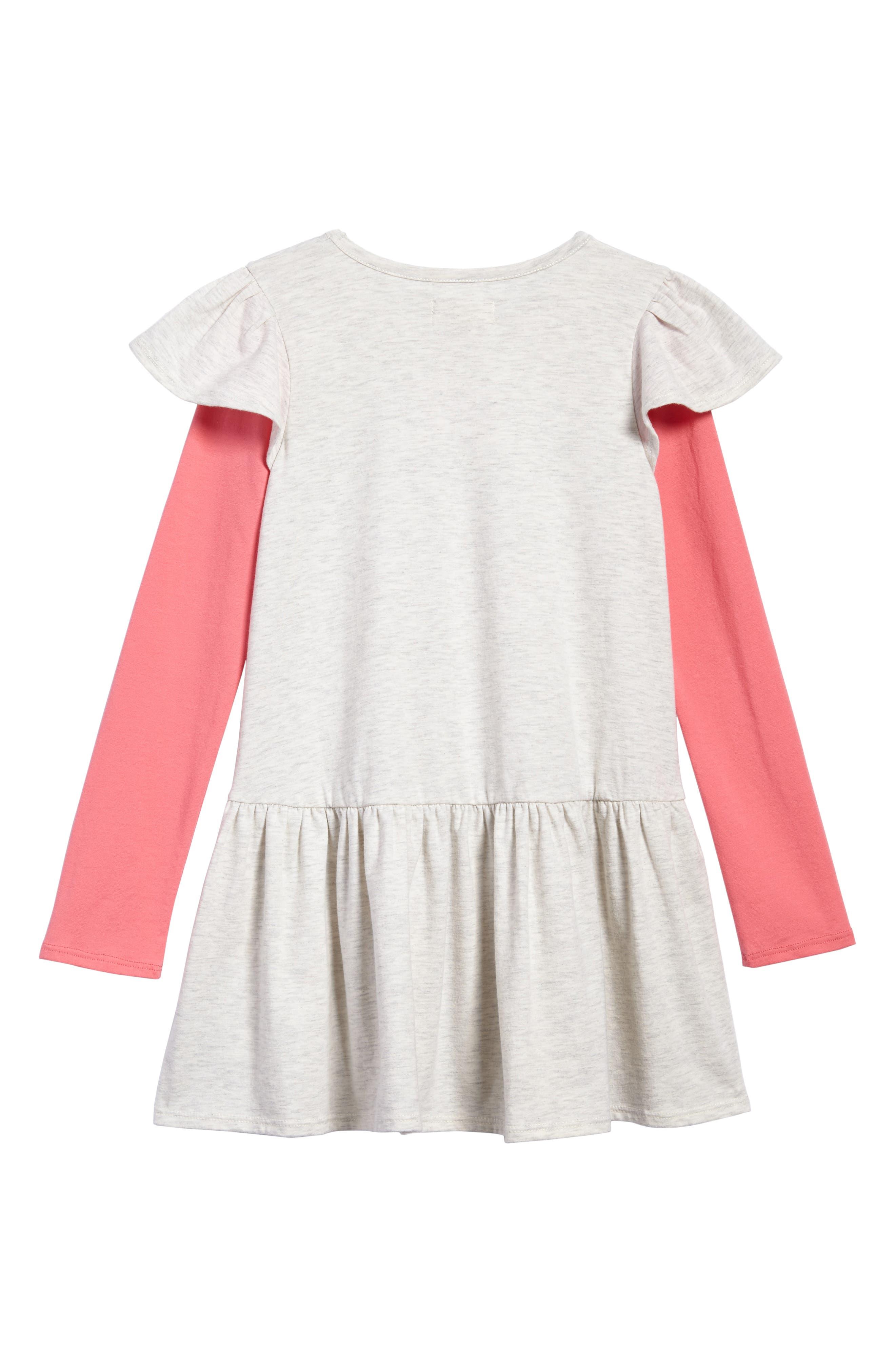Flutter Sleeve Knit Dress,                             Alternate thumbnail 4, color,