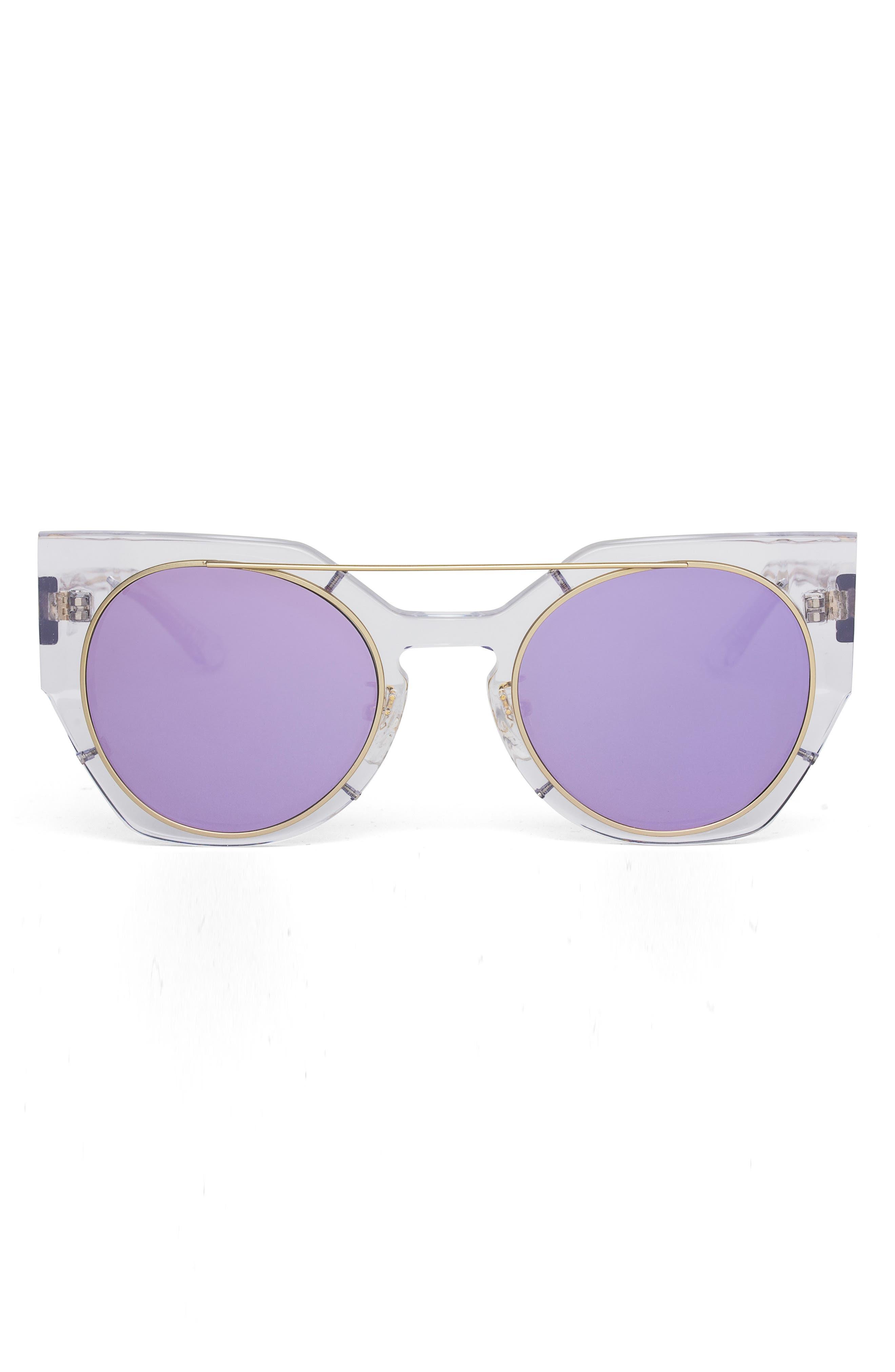 Olive 51mm Polarized Cat Eye Sunglasses,                             Alternate thumbnail 6, color,