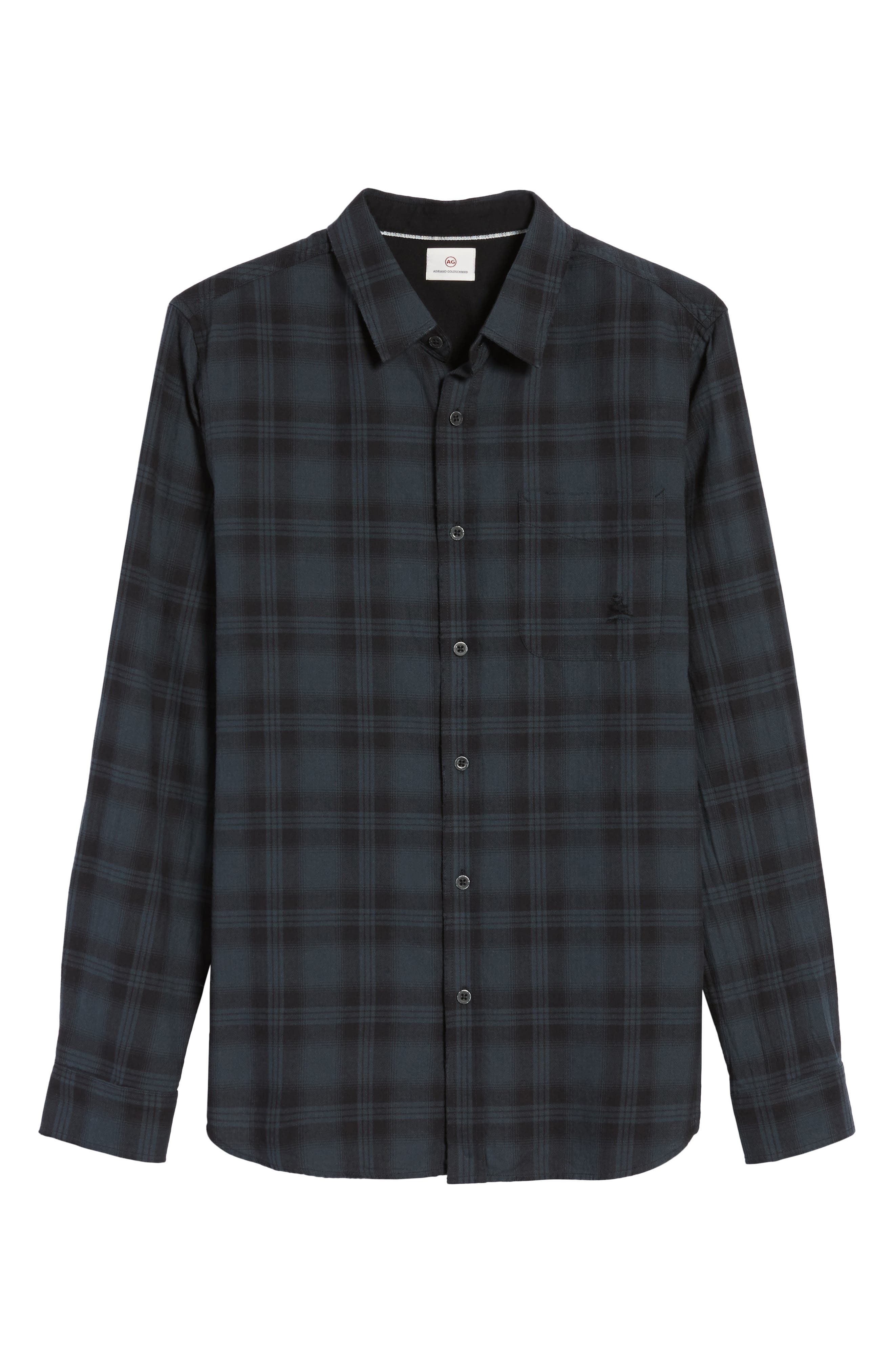 Colton Slim Fit Plaid Sport Shirt,                             Alternate thumbnail 6, color,                             487