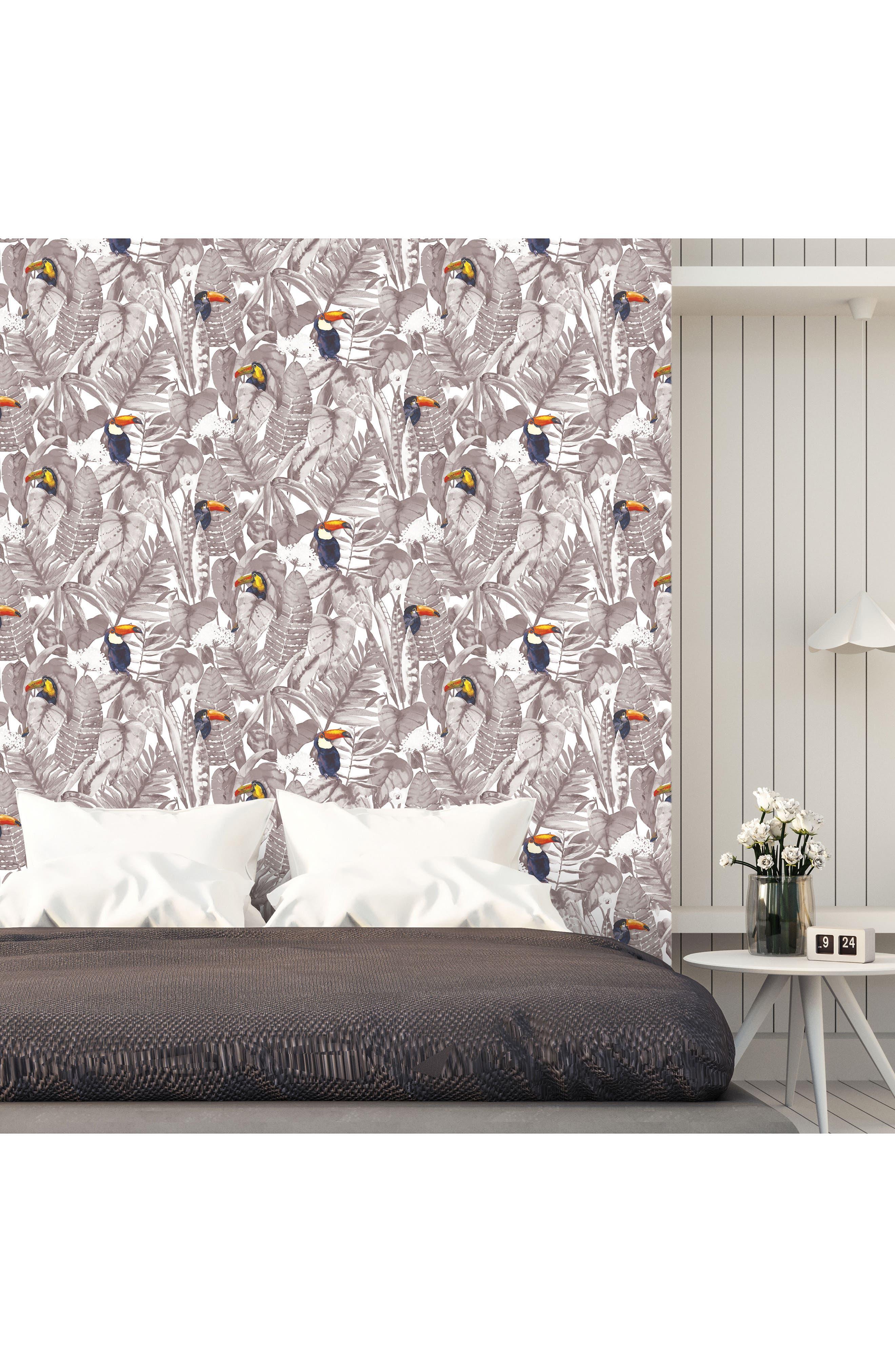 Toucan Self-Adhesive Vinyl Wallpaper,                             Alternate thumbnail 2, color,                             020