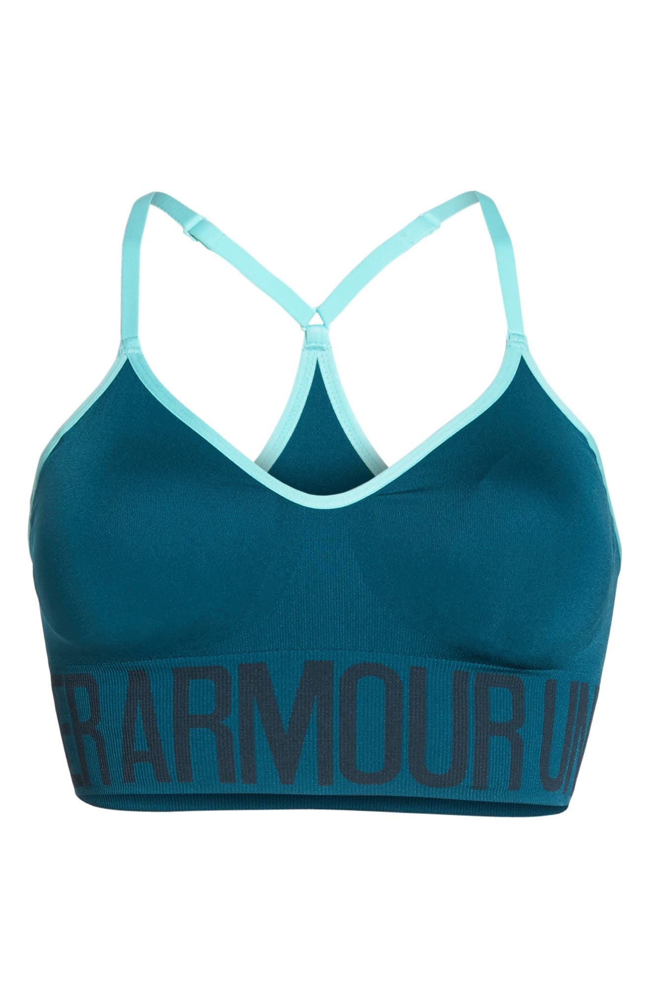 Seamless HeatGear<sup>®</sup> Sports Bra,                             Alternate thumbnail 21, color,