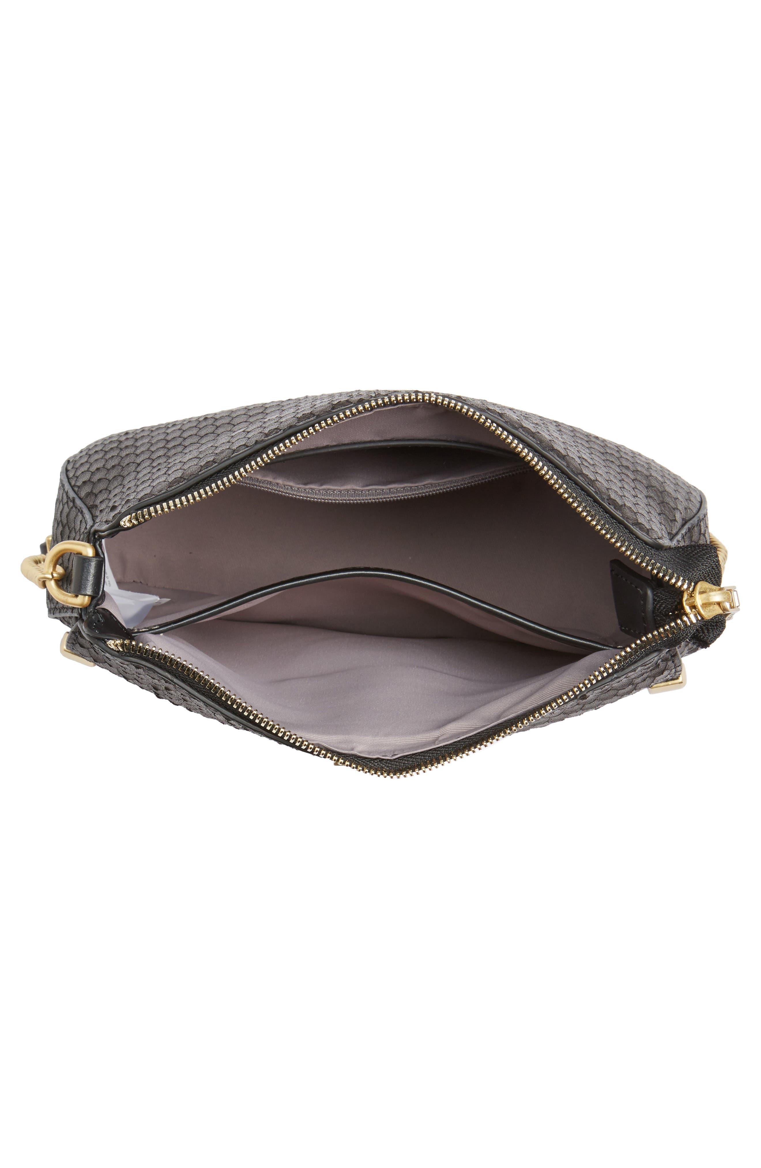 Céline Dion Octave Leather Crossbody Bag,                             Alternate thumbnail 4, color,