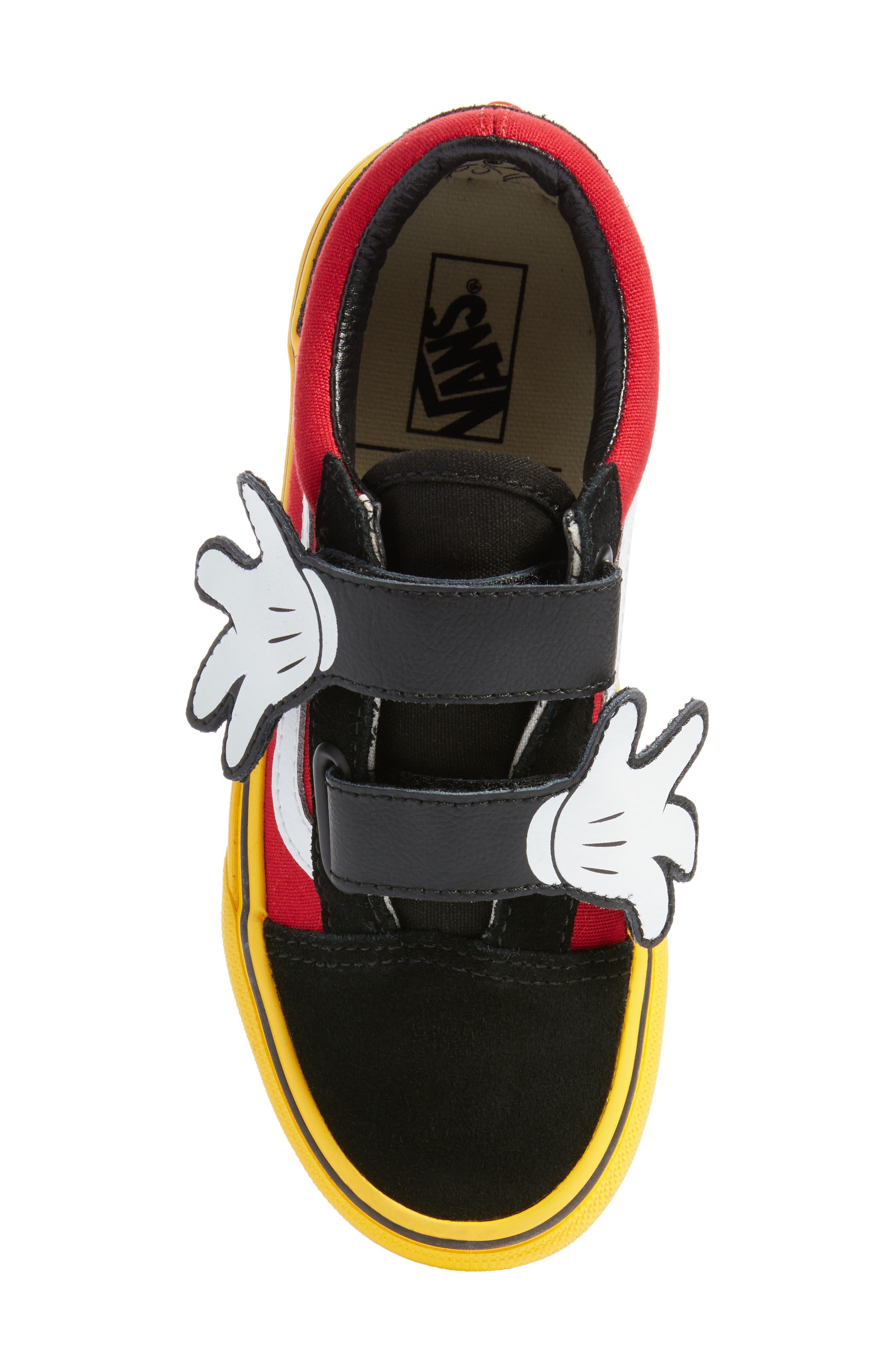 x Disney Mickey Mouse Old Skool V Sneaker,                             Alternate thumbnail 5, color,                             001