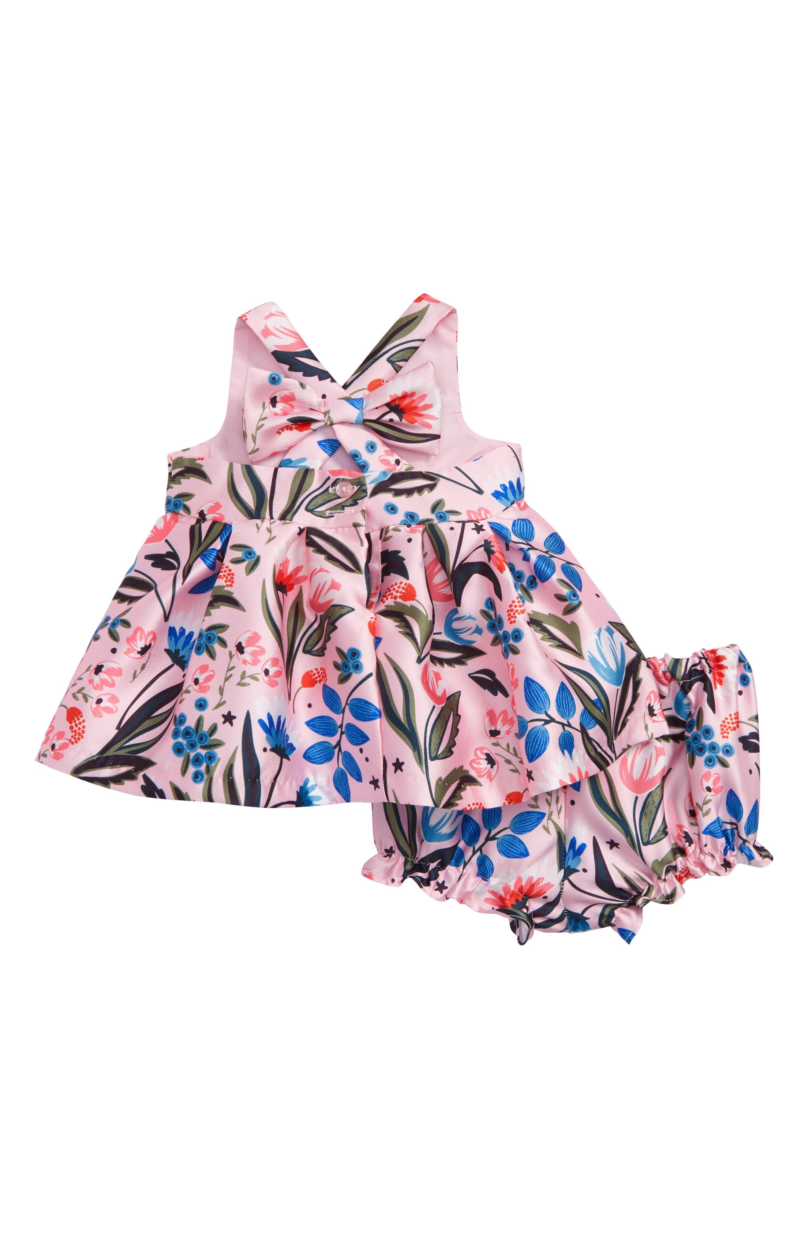 Floral Crossback Dress,                             Alternate thumbnail 2, color,                             650