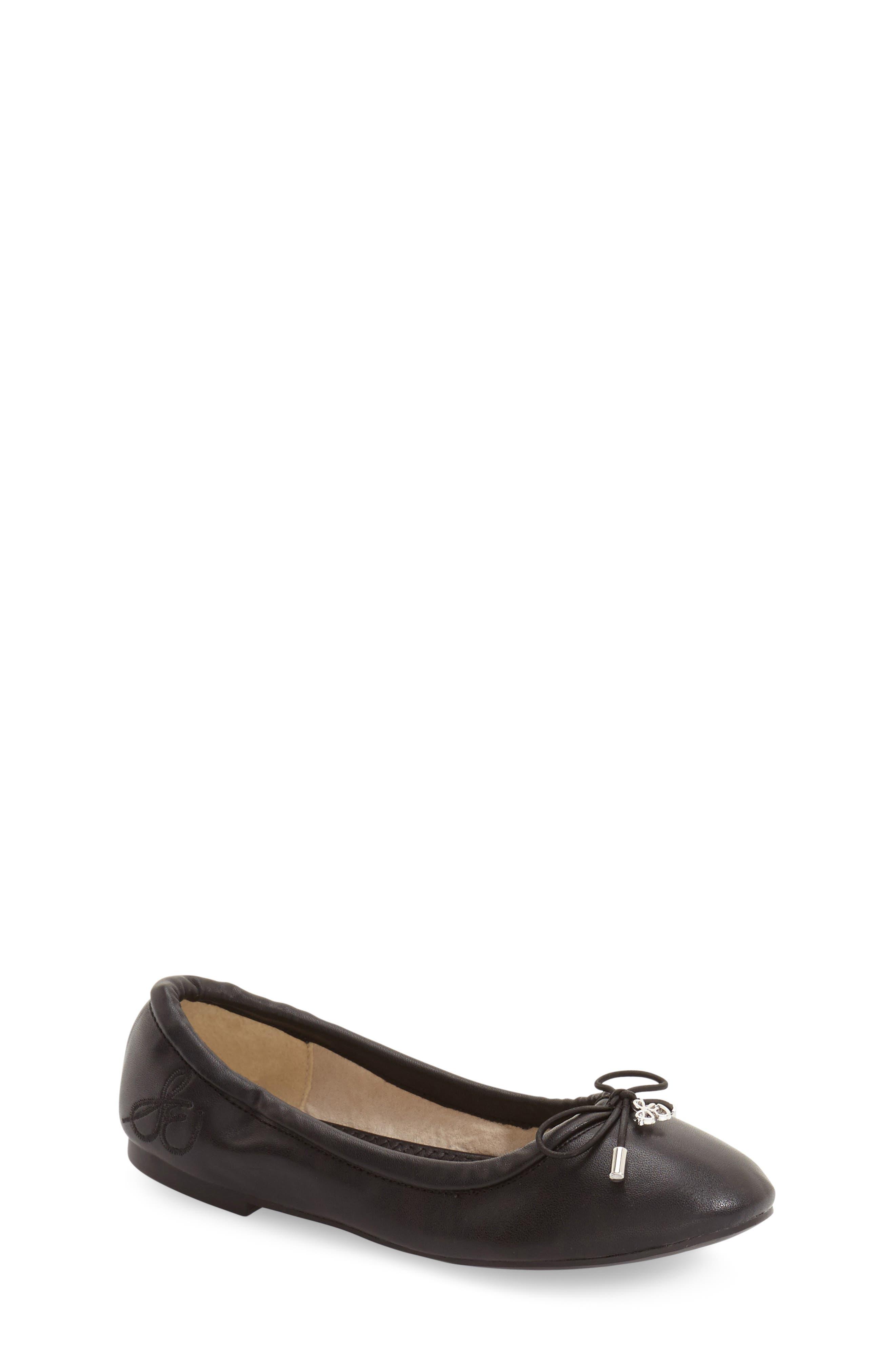 Girls Sam Edelman Felicia Ballet Flat Size 3 M  Black