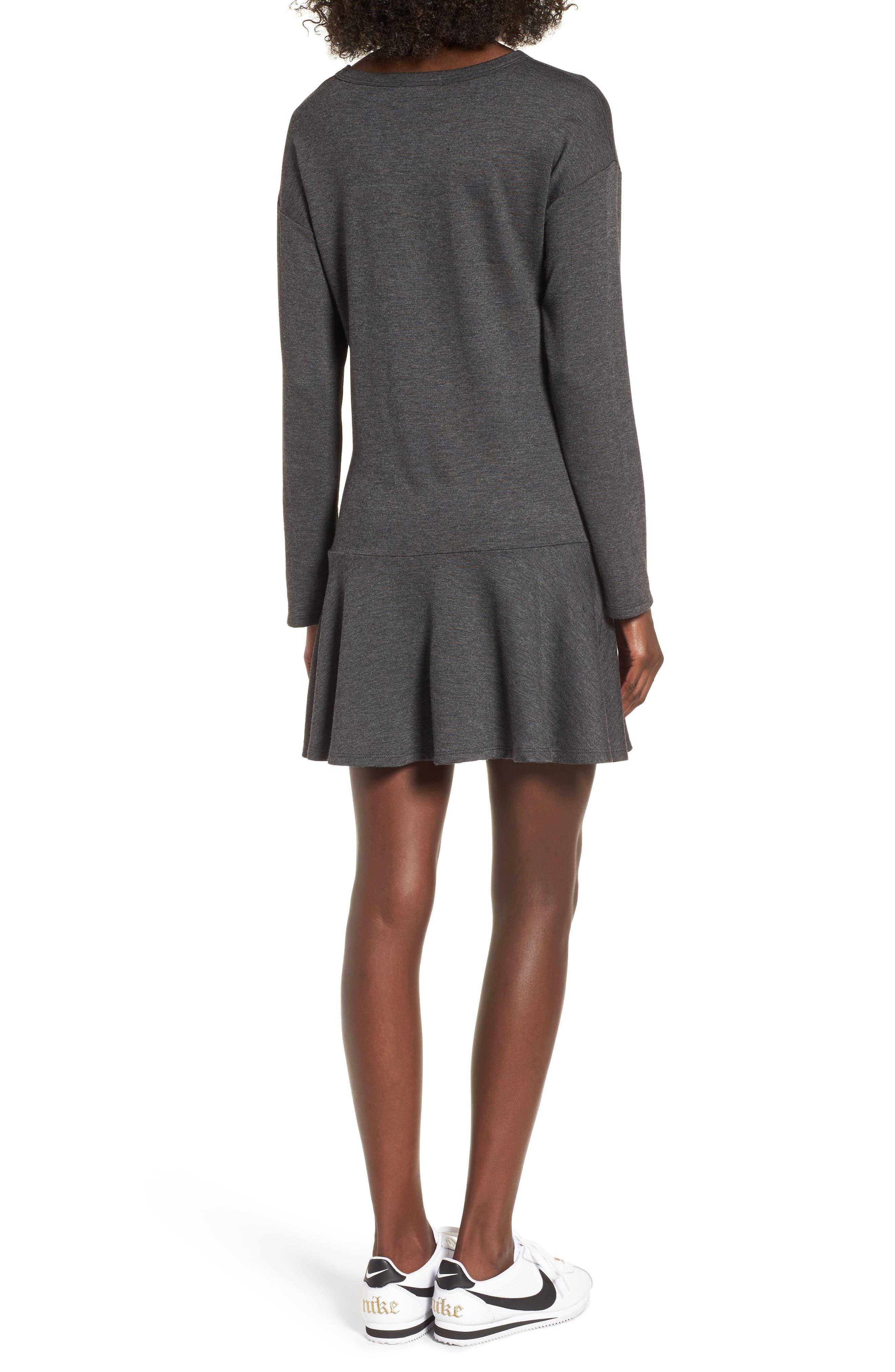 Drop Waist Sweatshirt Dress,                             Alternate thumbnail 4, color,