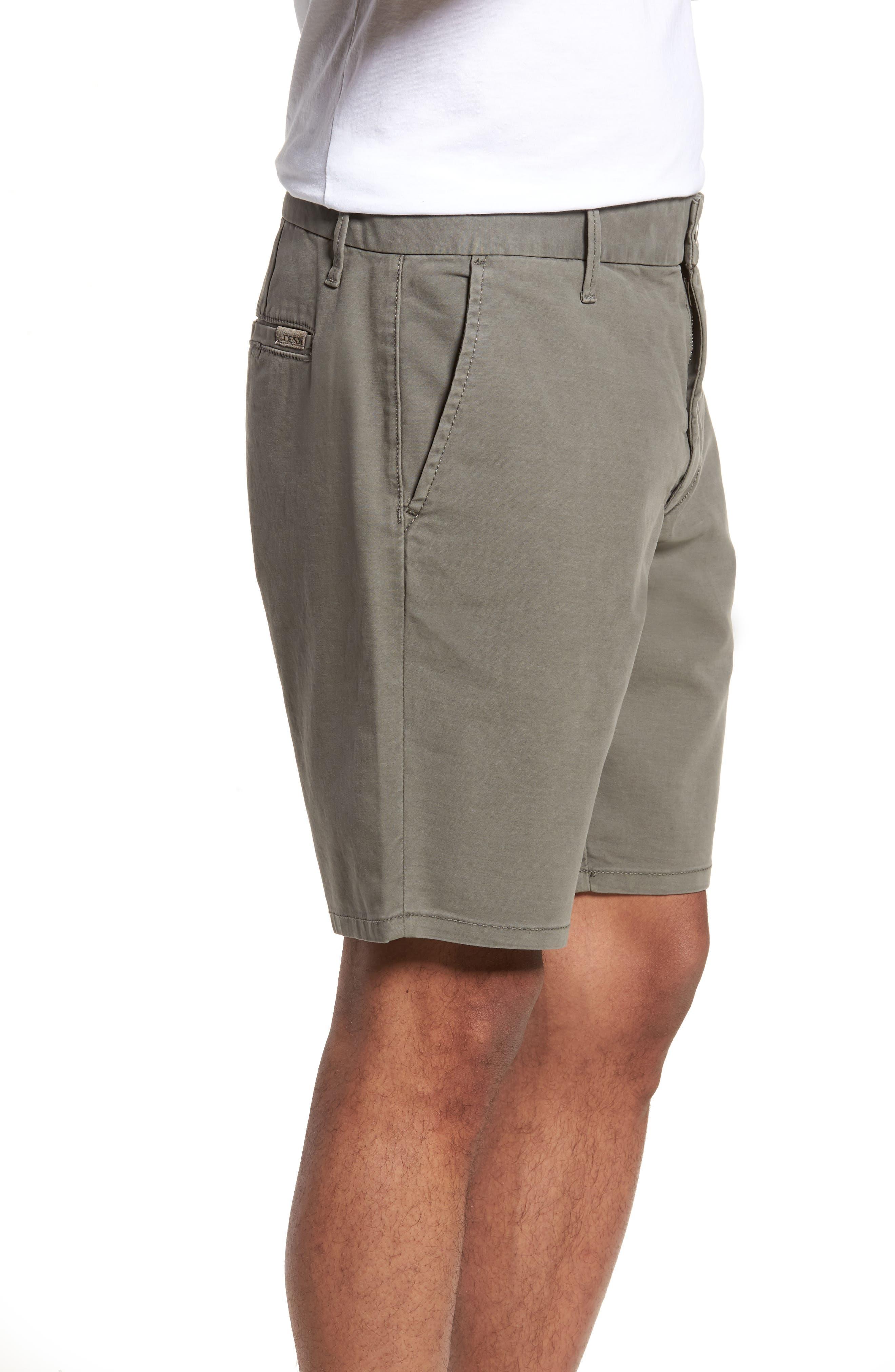 Brixton Trim Fit Straight Leg Shorts,                             Alternate thumbnail 3, color,                             020