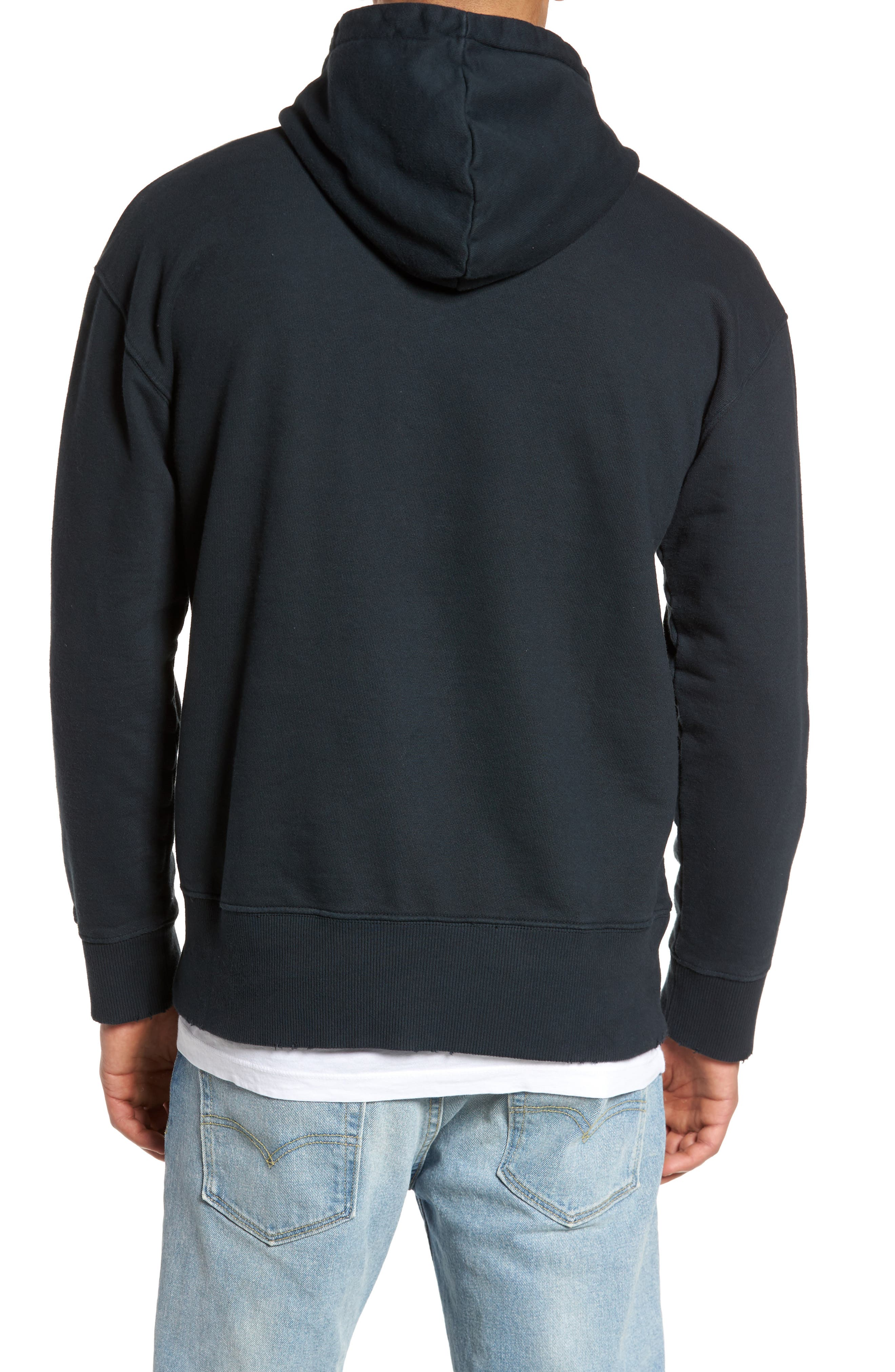 French Terry Hoodie,                             Alternate thumbnail 2, color,                             001