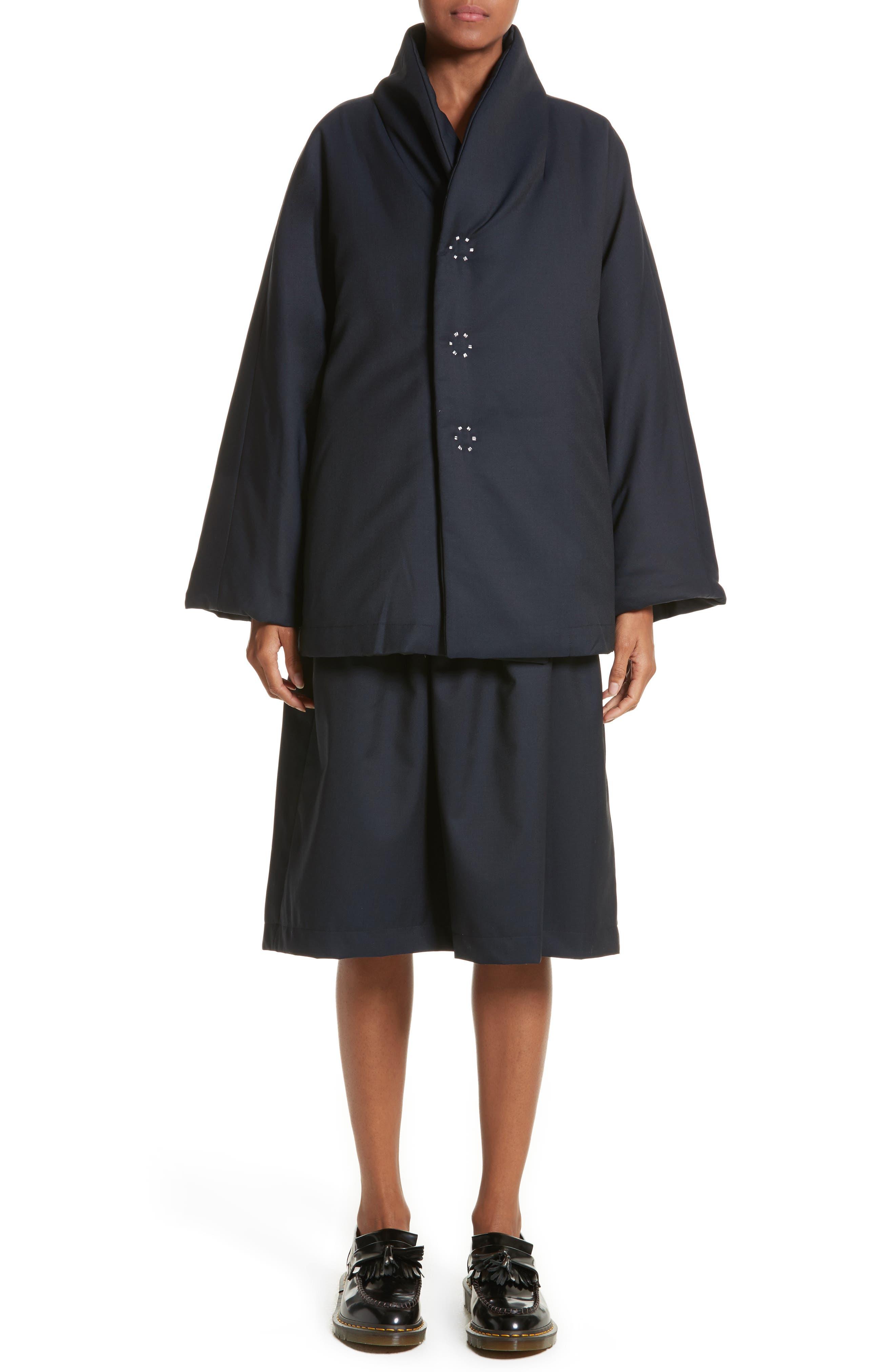 Comme de Garçons Sleeveless Fit & Flare Dress,                             Alternate thumbnail 7, color,                             400