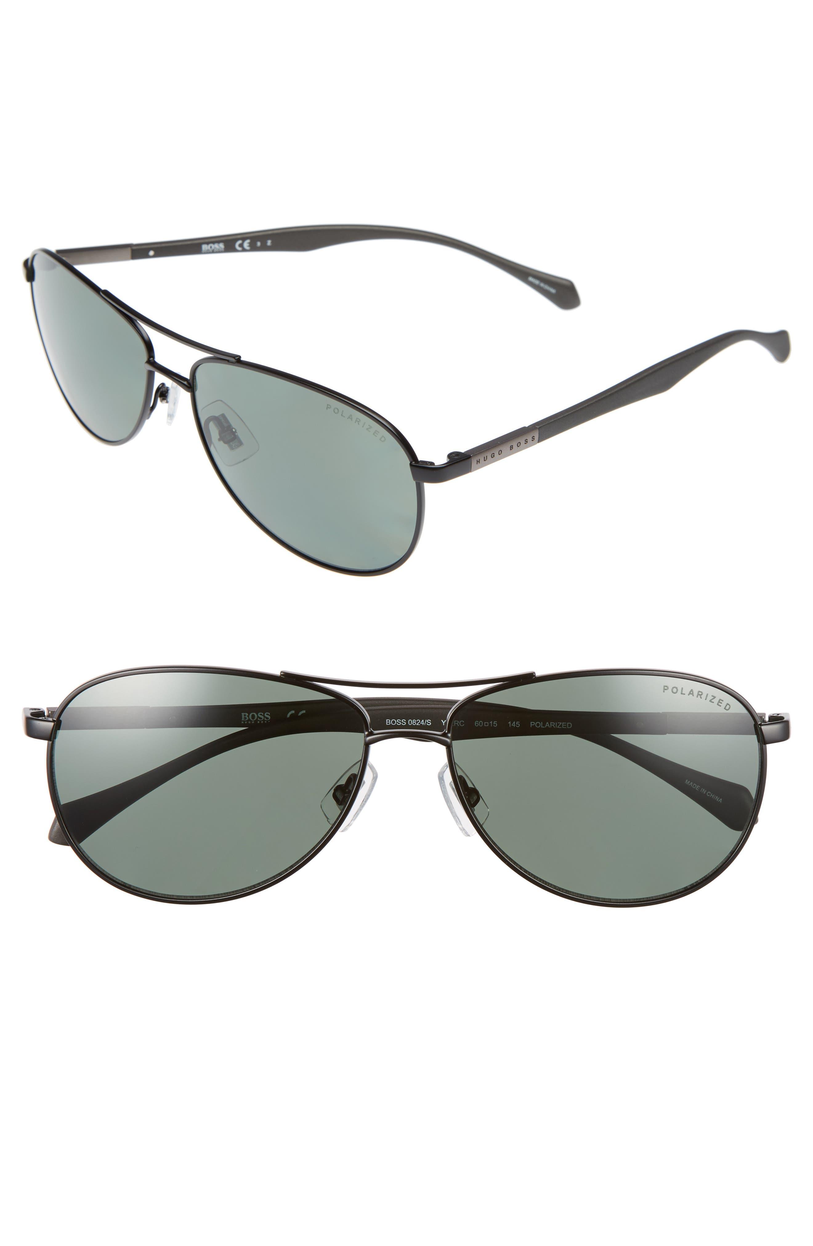 Polarized 60mm Sunglasses,                             Main thumbnail 1, color,                             001