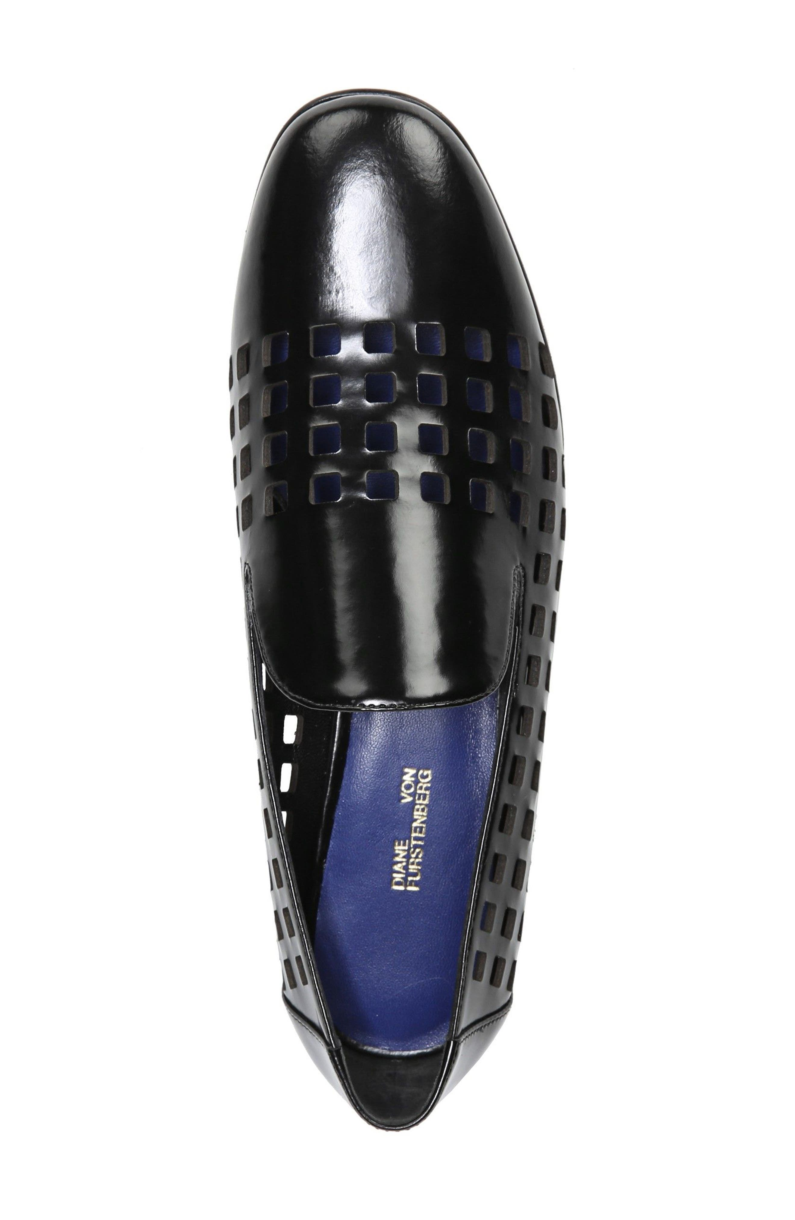 Linz Perforated Loafer,                             Alternate thumbnail 5, color,                             001