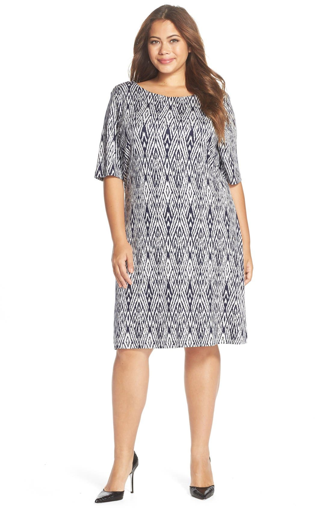 'Falcon' Print French Terry Scoop Back Dress,                             Alternate thumbnail 4, color,