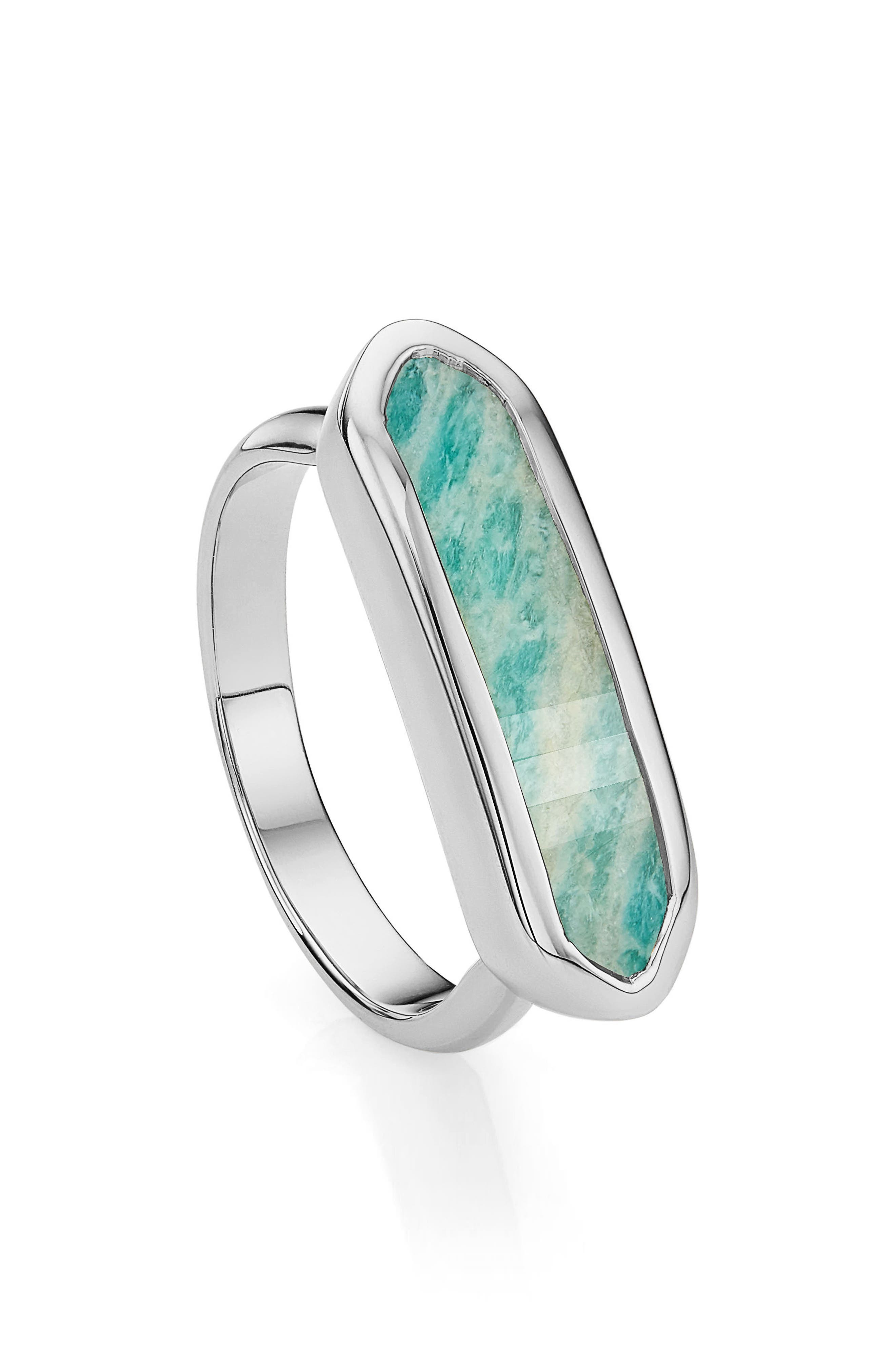 'Baja' Stone Ring,                         Main,                         color, SILVER