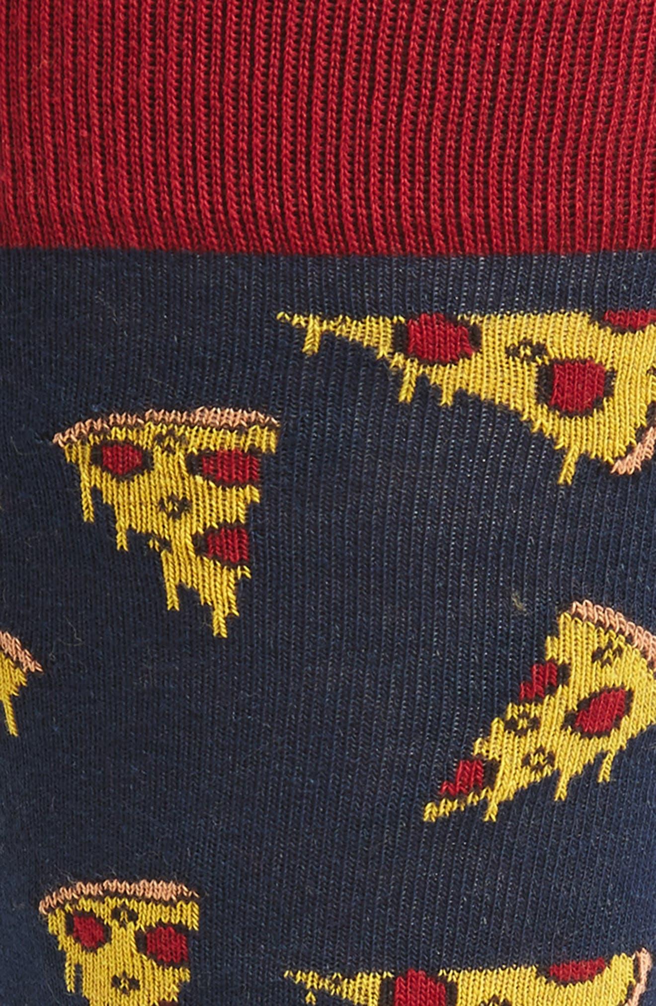 Pizza Socks,                             Alternate thumbnail 2, color,                             410