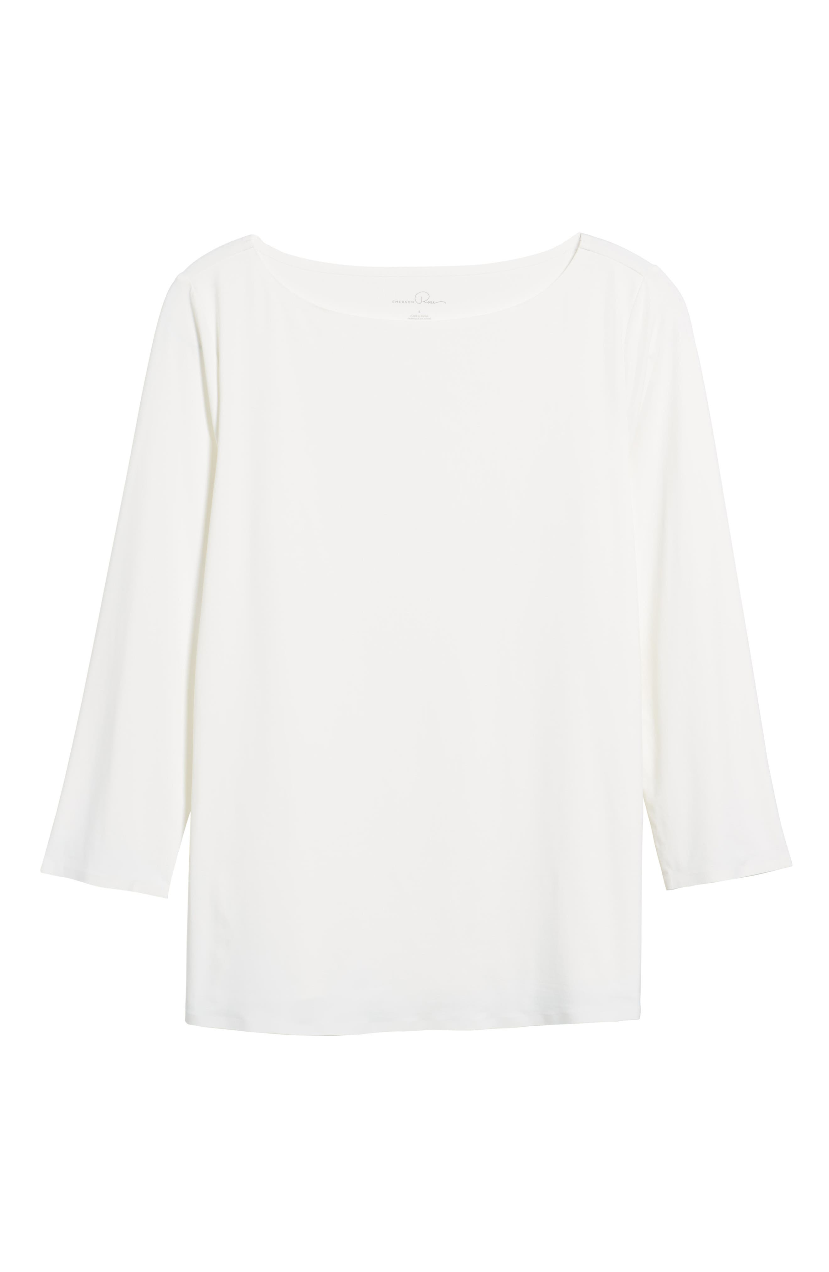 Three Quarter Sleeve Top,                             Alternate thumbnail 6, color,                             900