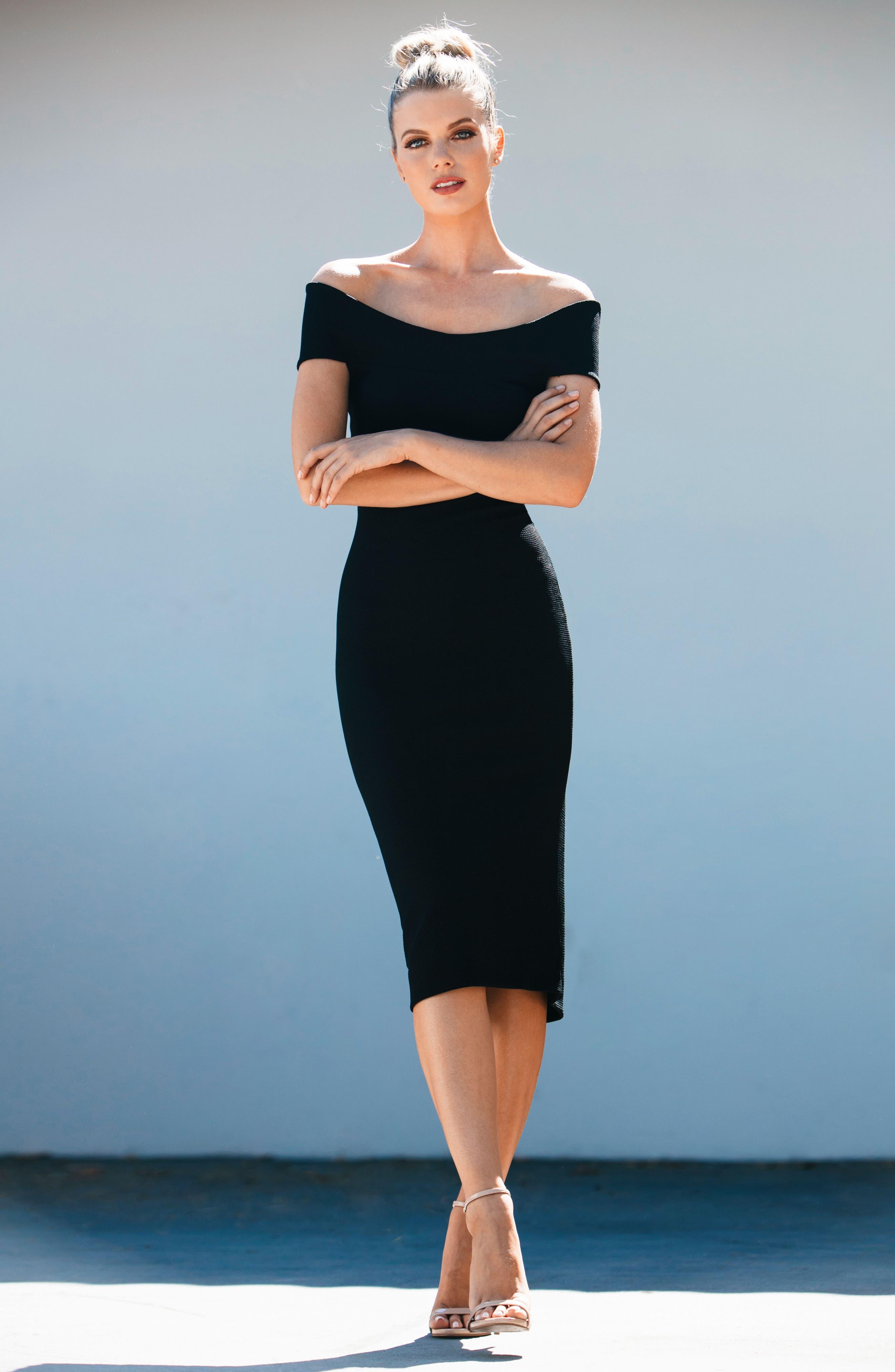Claudette Textured Dress,                             Alternate thumbnail 6, color,                             001