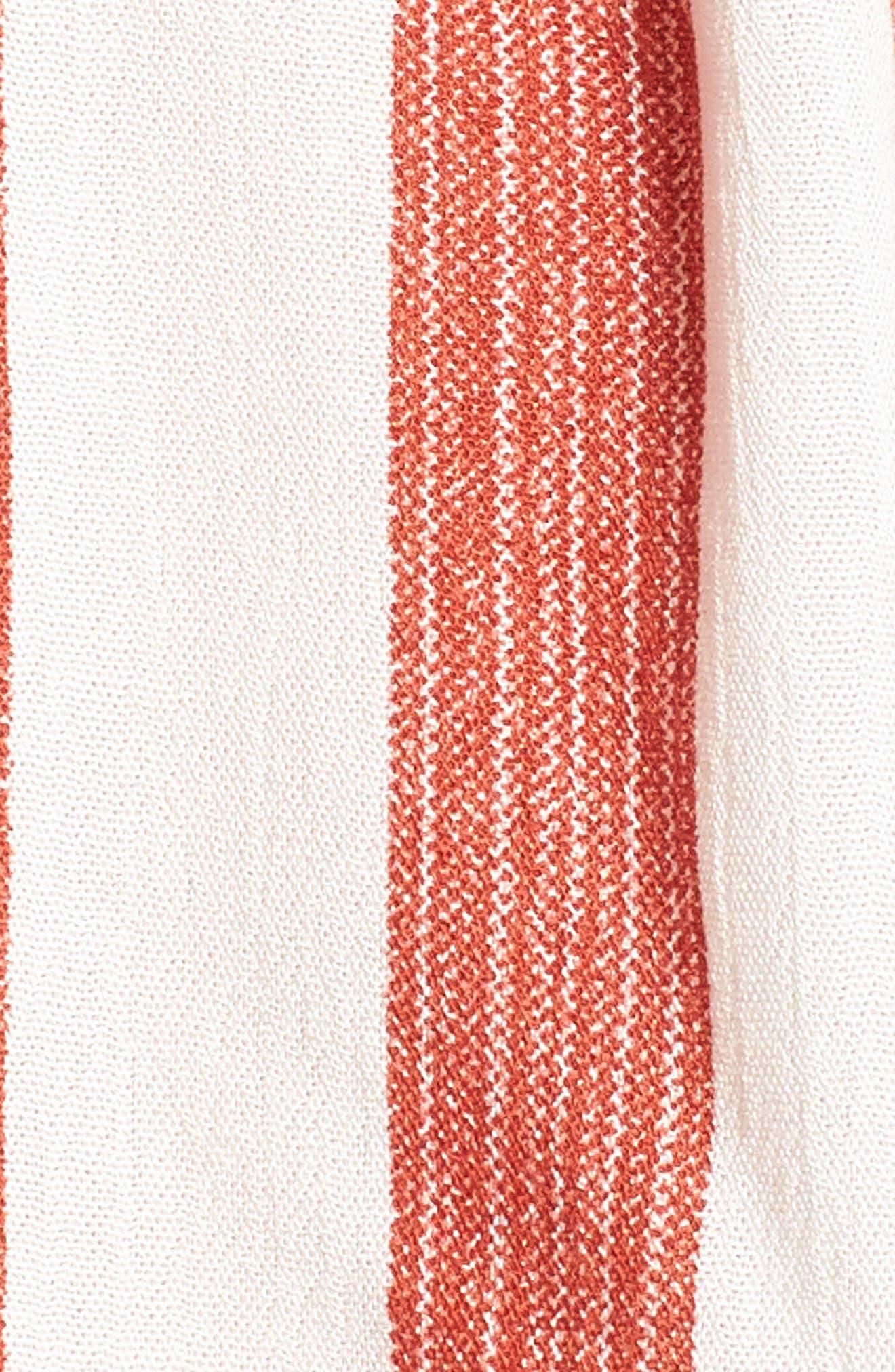 Stripe Off the Shoulder Top,                             Alternate thumbnail 4, color,                             600