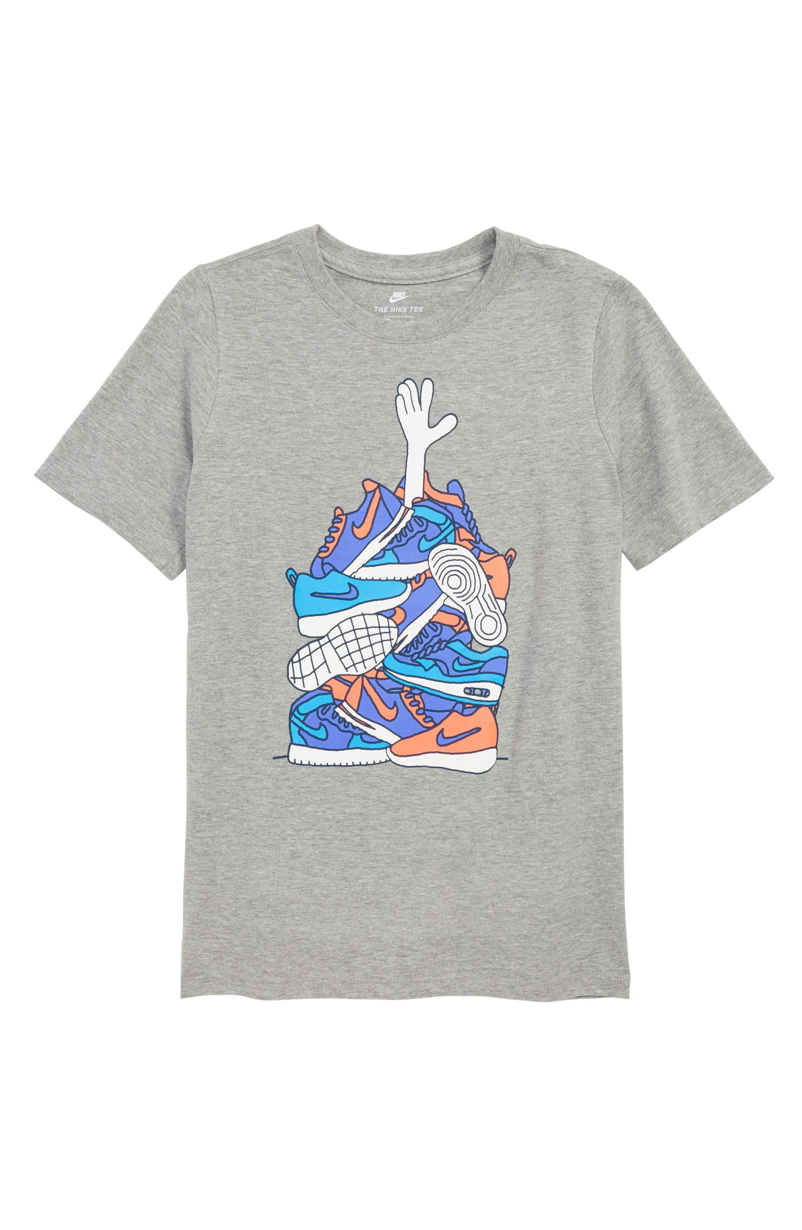Sneaker Pile Graphic T-Shirt,                             Main thumbnail 1, color,                             063