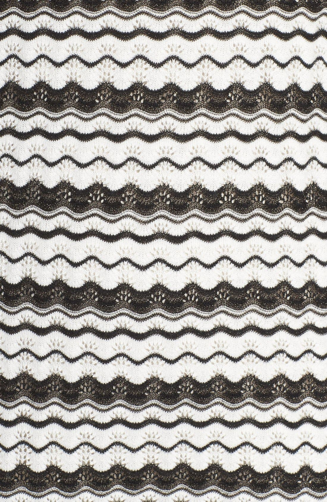 'Zeal' Pointelle Sweater Dress,                             Alternate thumbnail 6, color,                             001