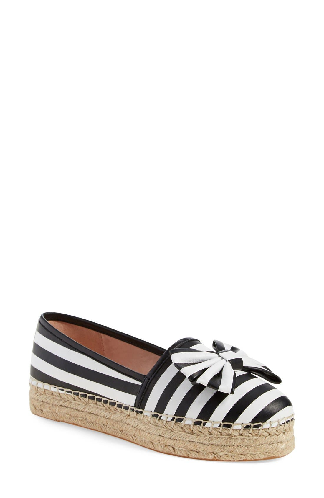 'linds' bow espadrille,                         Main,                         color, 001