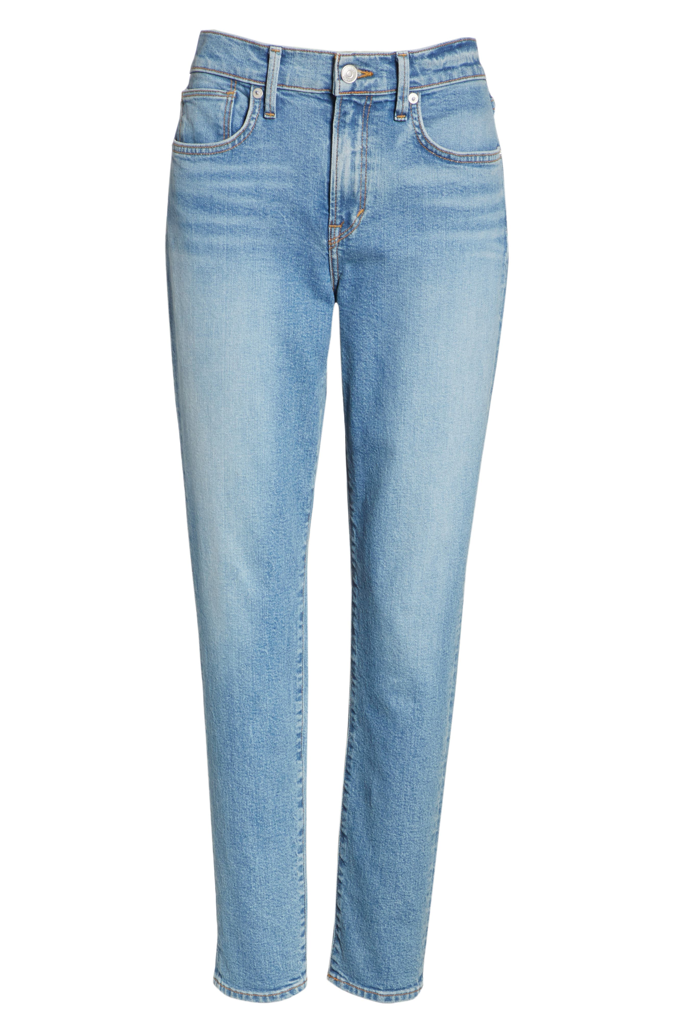 5-Pocket Skinny Jeans,                             Alternate thumbnail 6, color,                             LIGHT WASH