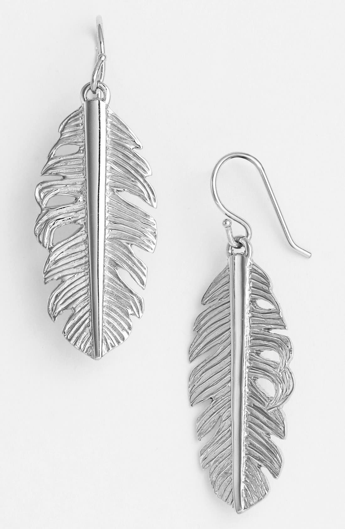Feather Drop Earrings,                         Main,                         color, 040