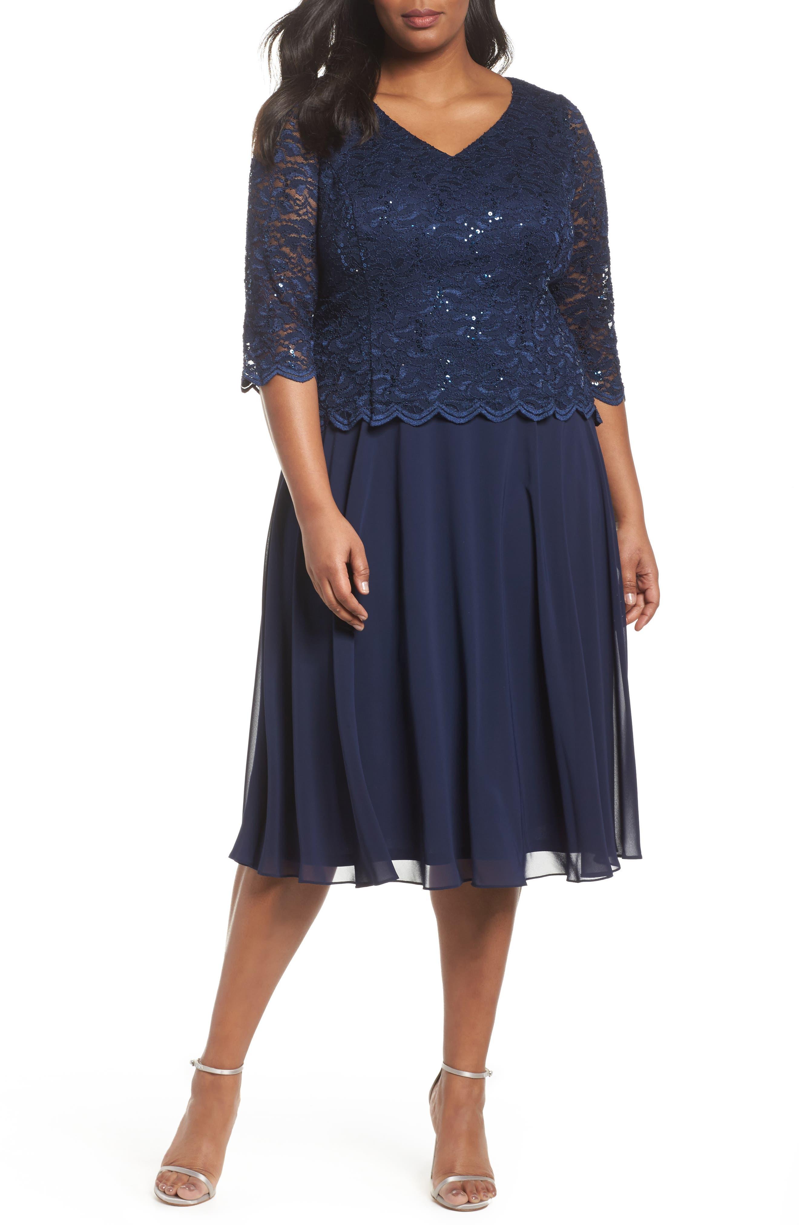 V-Neck Lace Dress,                             Main thumbnail 1, color,