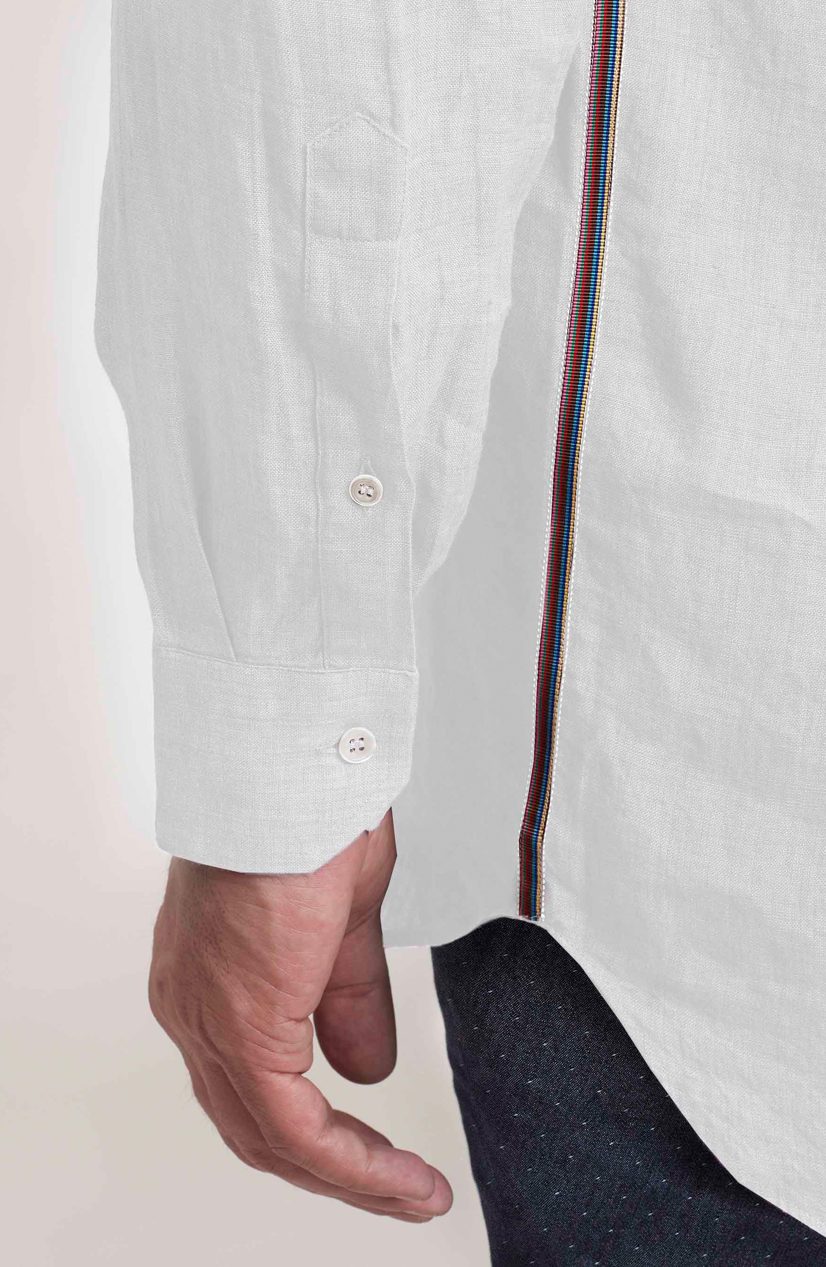 Delave Regular Fit Linen Sport Shirt,                             Alternate thumbnail 8, color,                             100