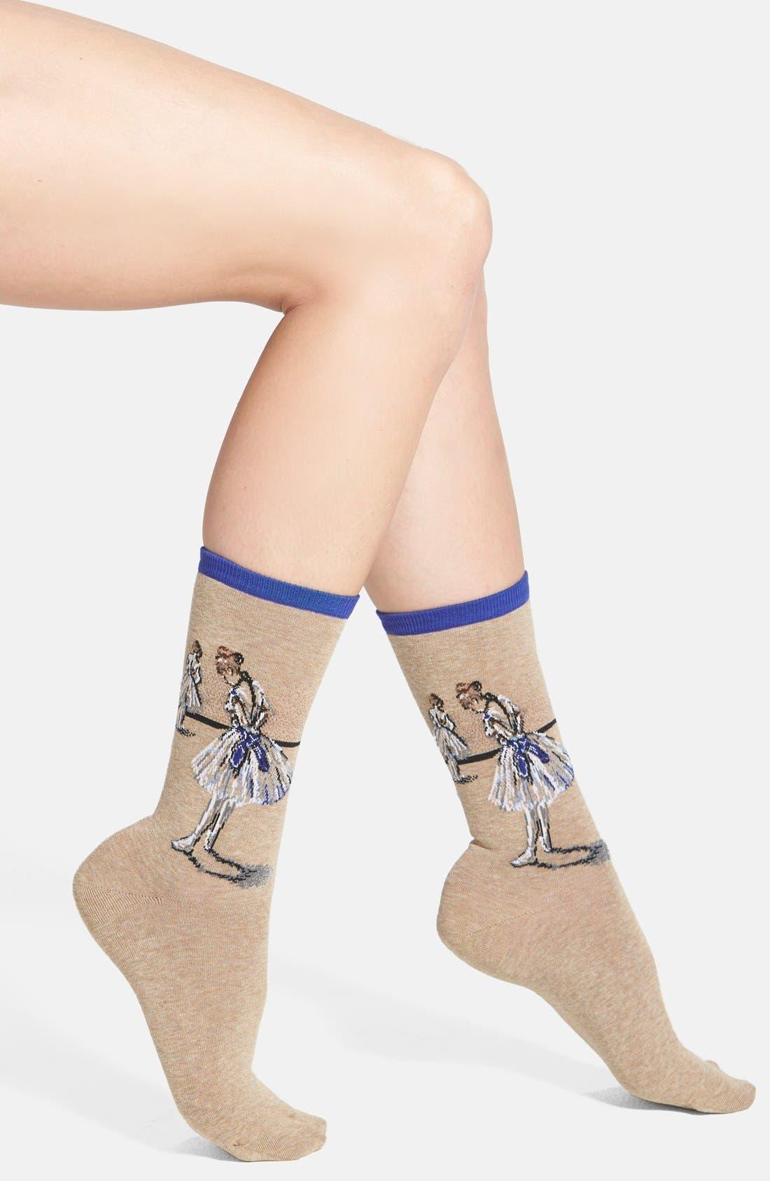 'Dancer Study' Socks,                         Main,                         color, 499