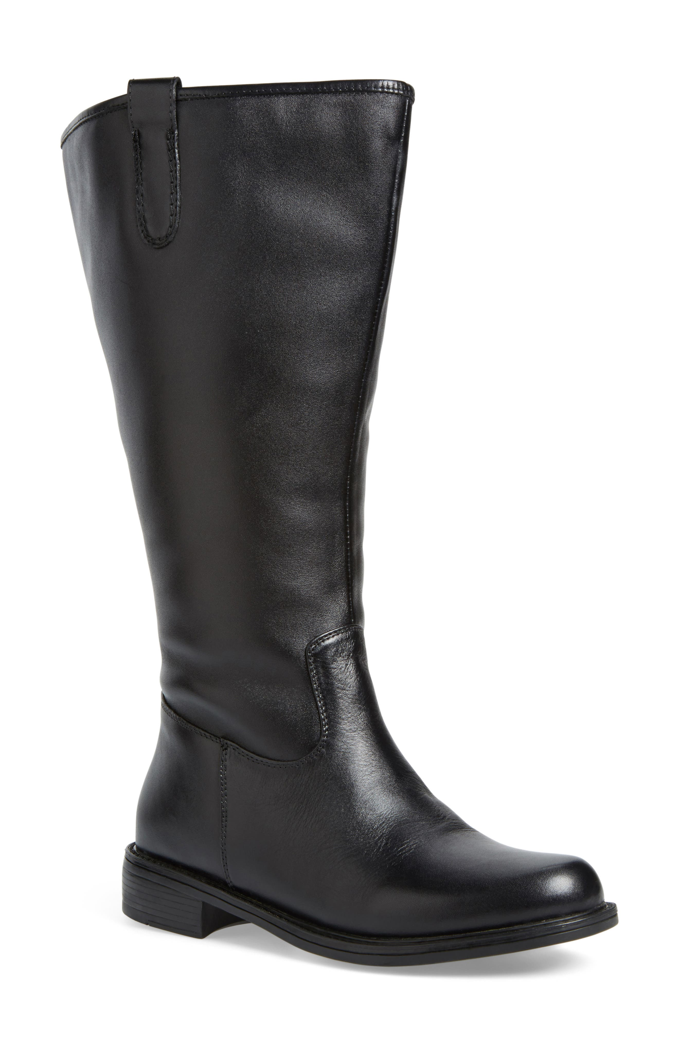 'Best' Calfskin Leather & Suede Boot,                             Alternate thumbnail 12, color,