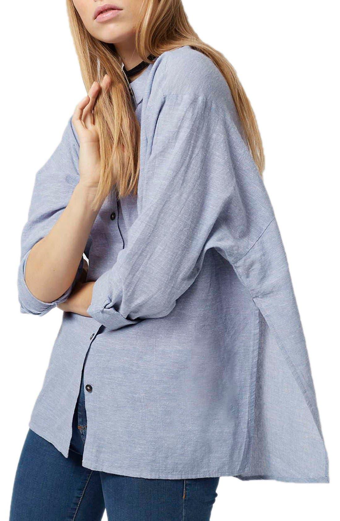 'Ivy' Oversize Chambray Shirt,                             Main thumbnail 2, color,
