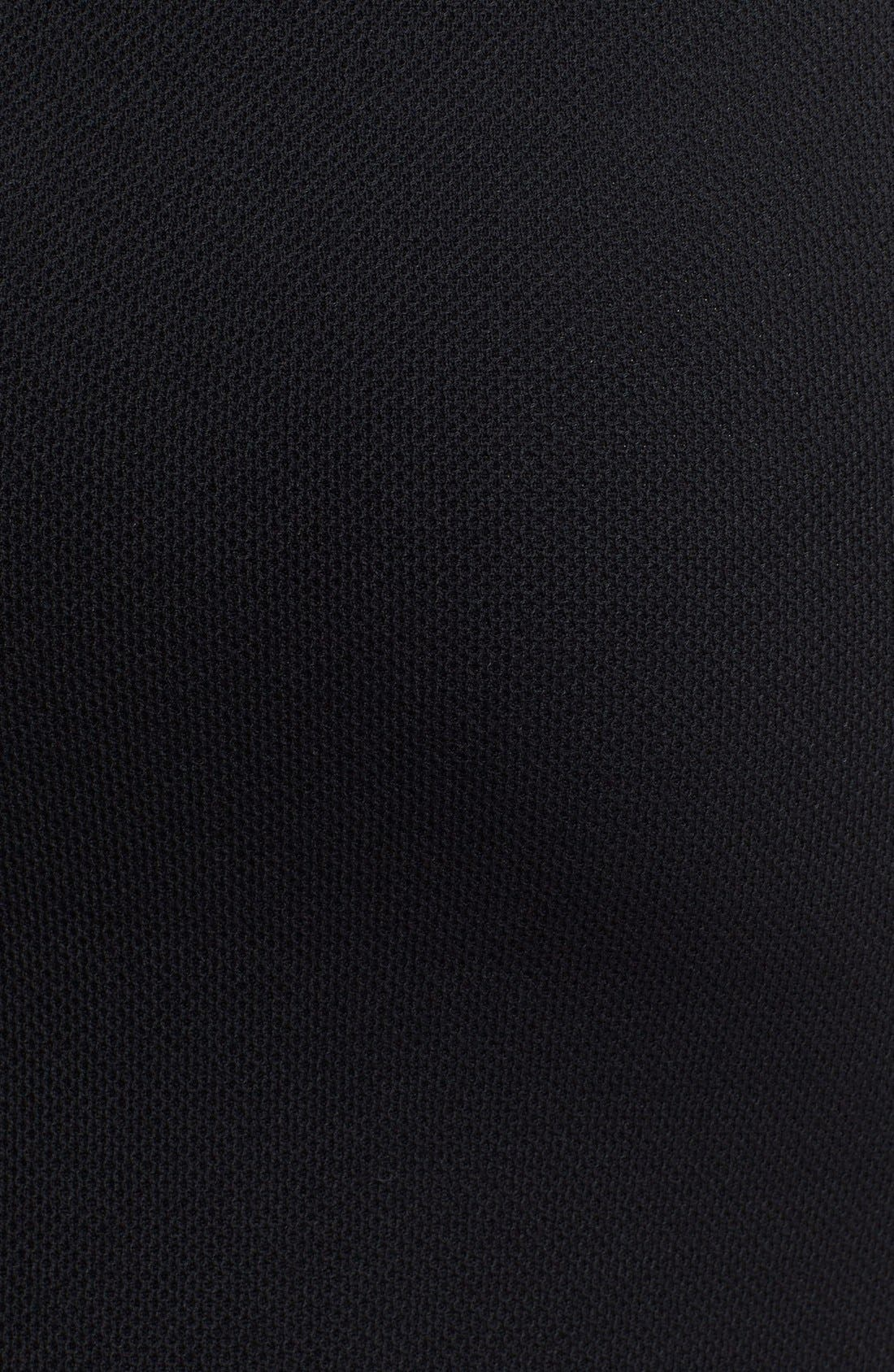 Milano Piqué Knit Pencil Skirt,                             Alternate thumbnail 4, color,                             001