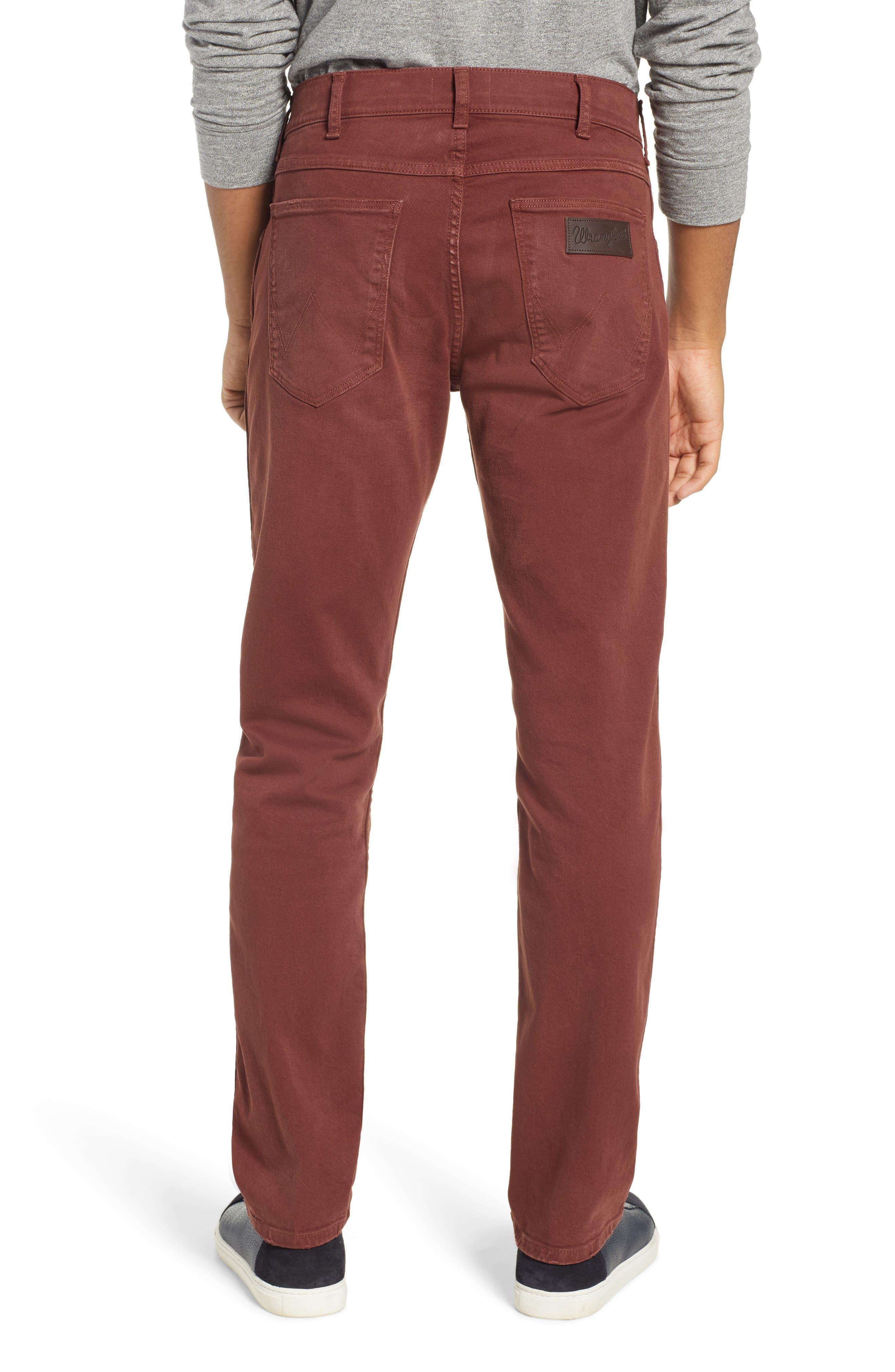Greensboro Straight Leg Twill Pants,                             Alternate thumbnail 2, color,                             MAHOGANY RED